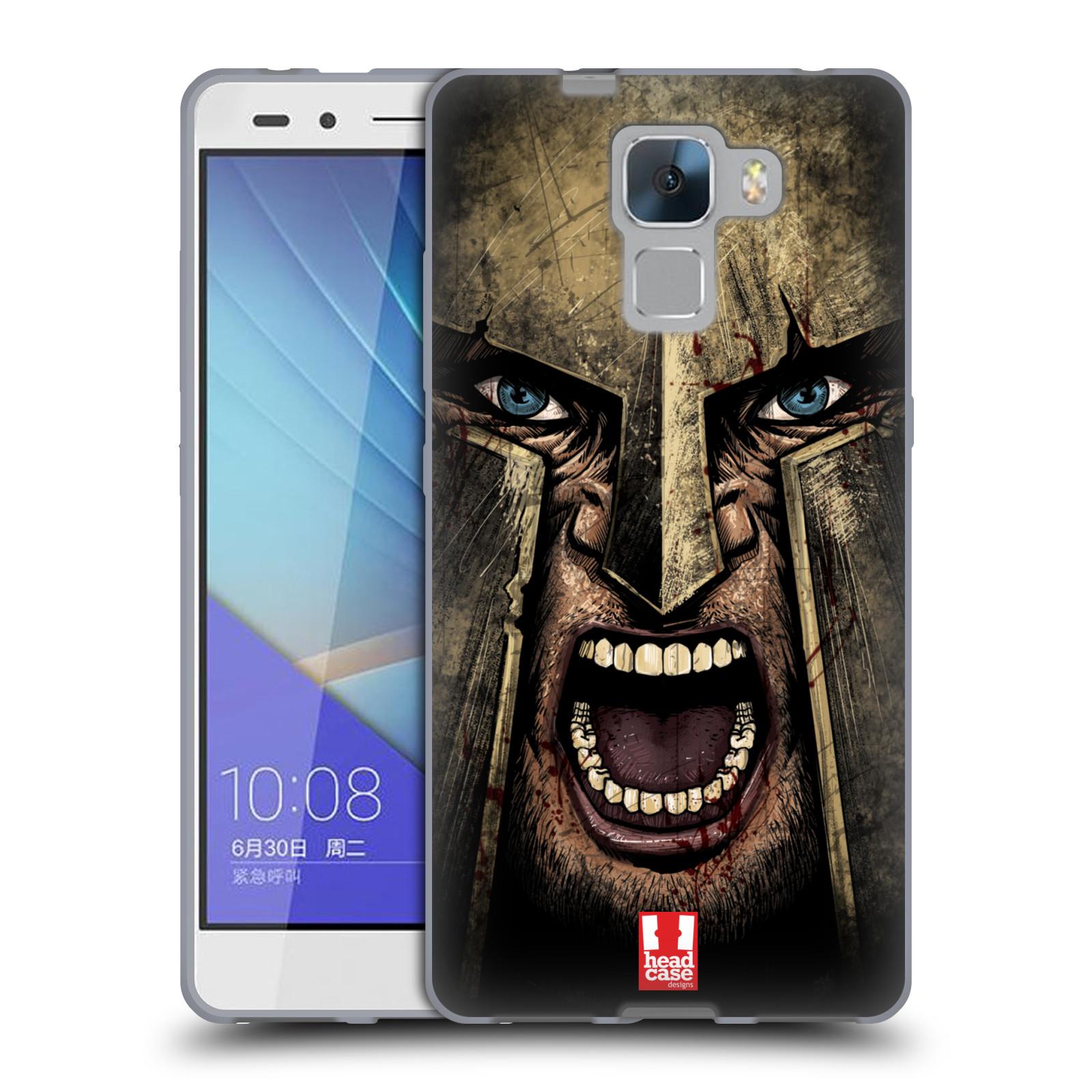 Silikonové pouzdro na mobil Honor 7 - Head Case - Řvoucí válečník