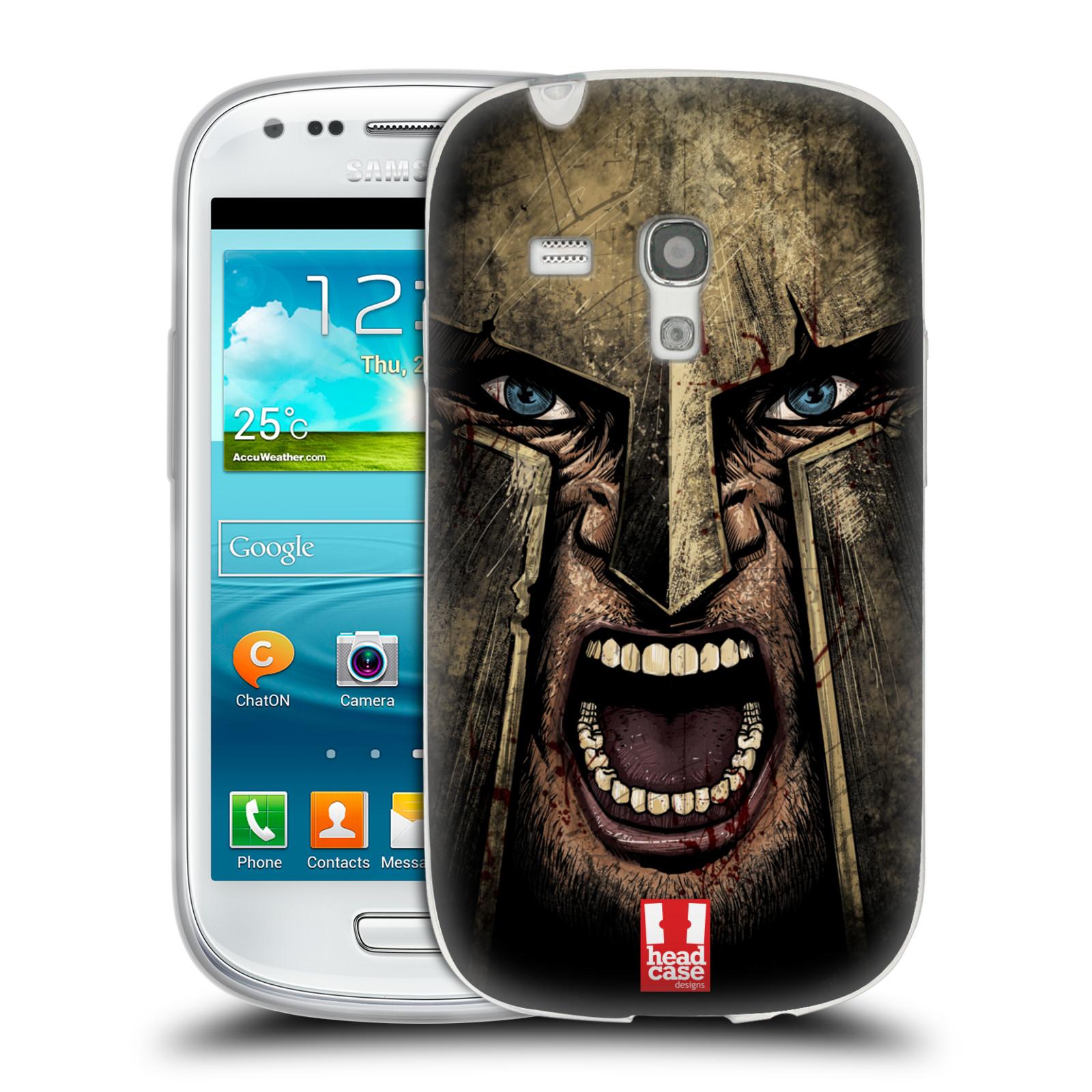 Silikonové pouzdro na mobil Samsung Galaxy S III Mini - Head Case - Řvoucí válečník