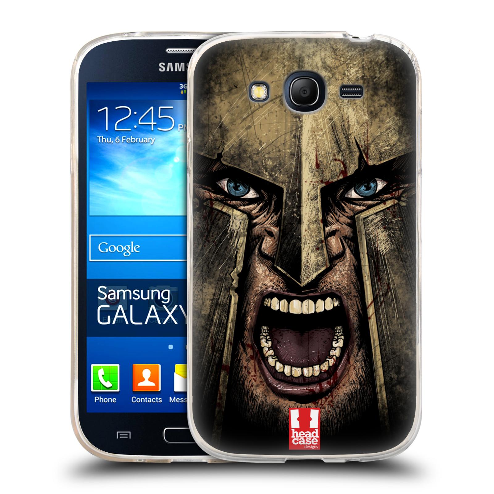 Silikonové pouzdro na mobil Samsung Galaxy Grand Neo - Head Case - Řvoucí válečník