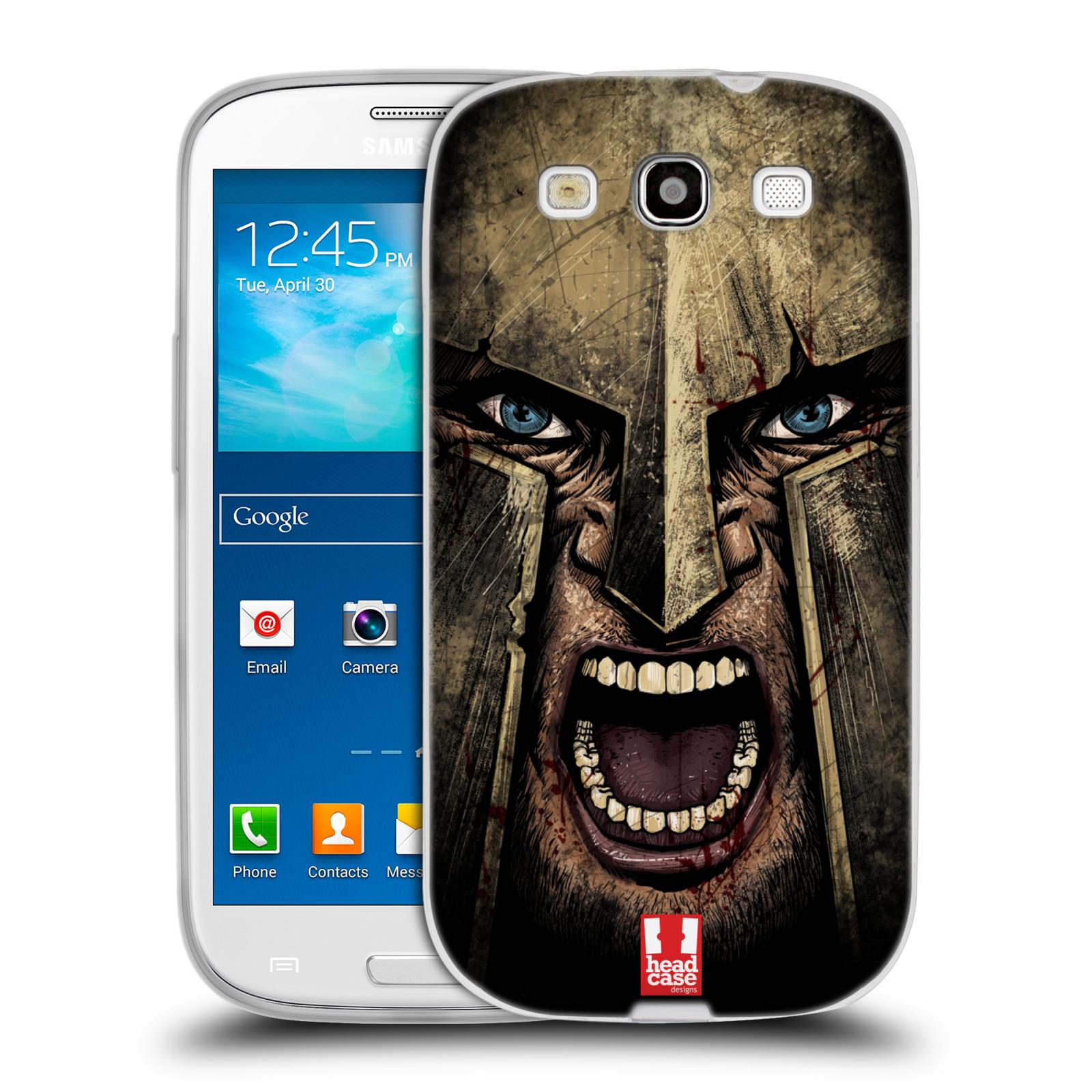 Silikonové pouzdro na mobil Samsung Galaxy S3 Neo - Head Case - Řvoucí válečník
