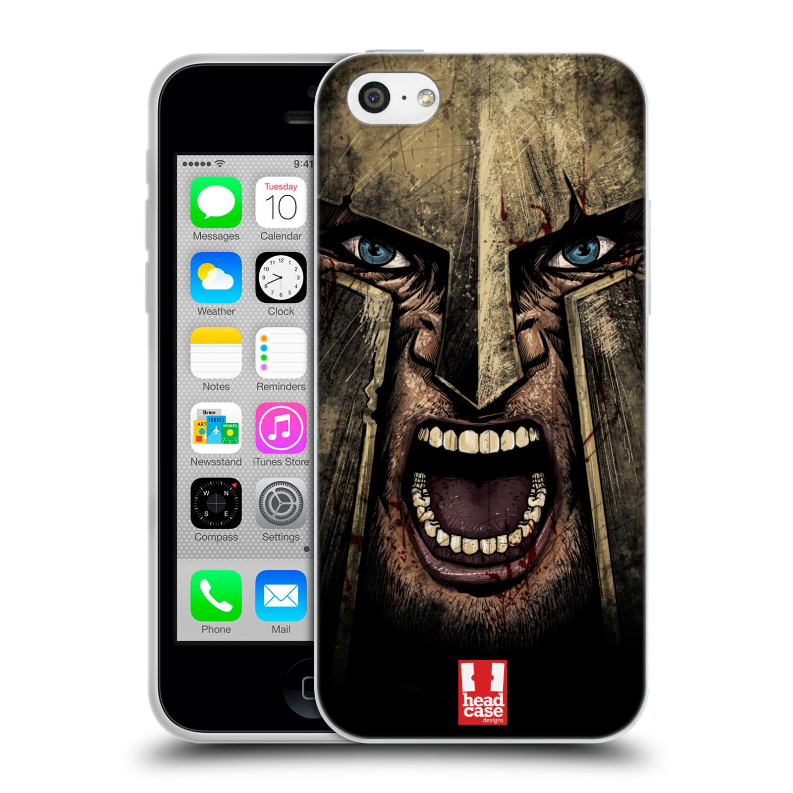 Silikonové pouzdro na mobil Apple iPhone 5C - Head Case - Řvoucí válečník