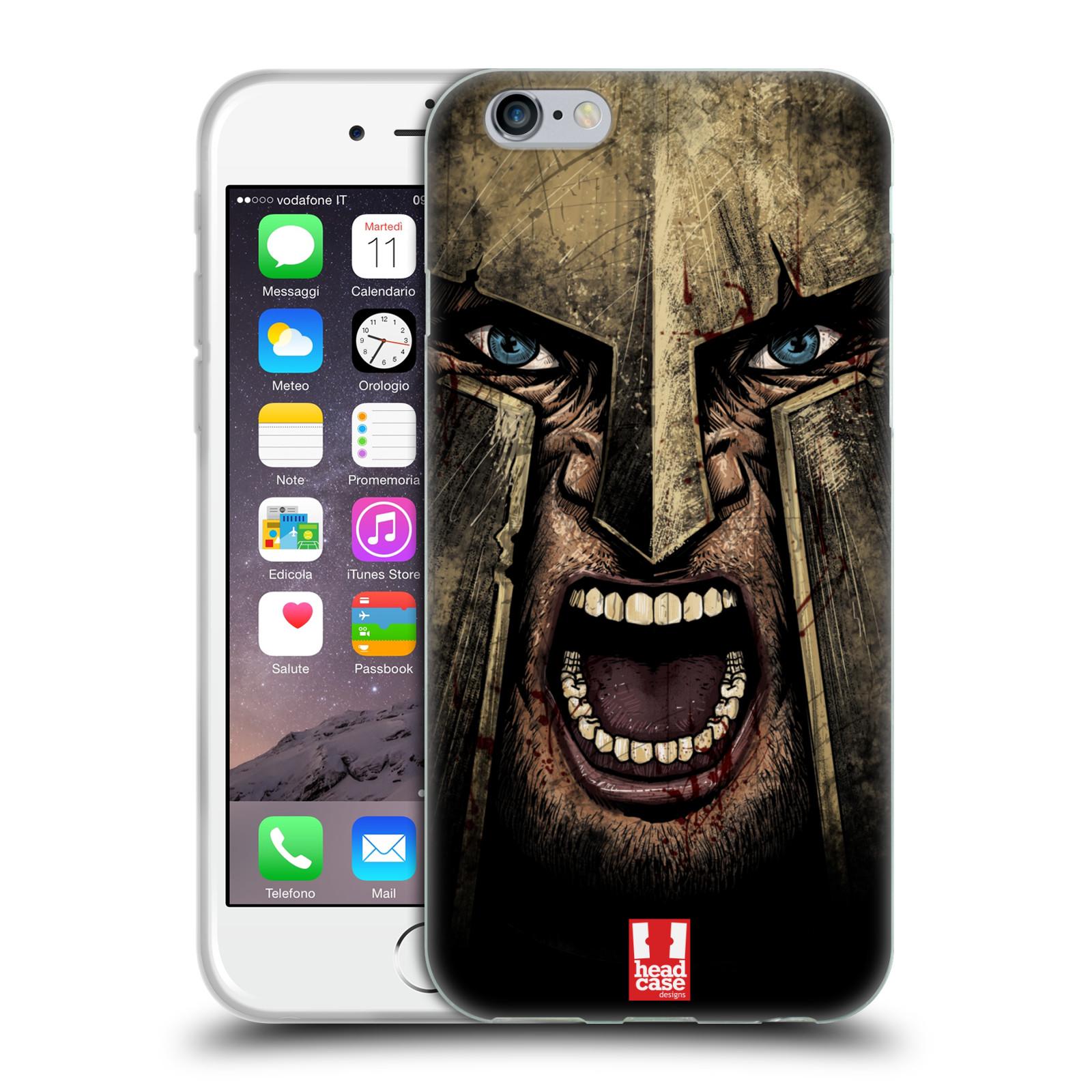 Silikonové pouzdro na mobil Apple iPhone 6 - Head Case - Řvoucí válečník