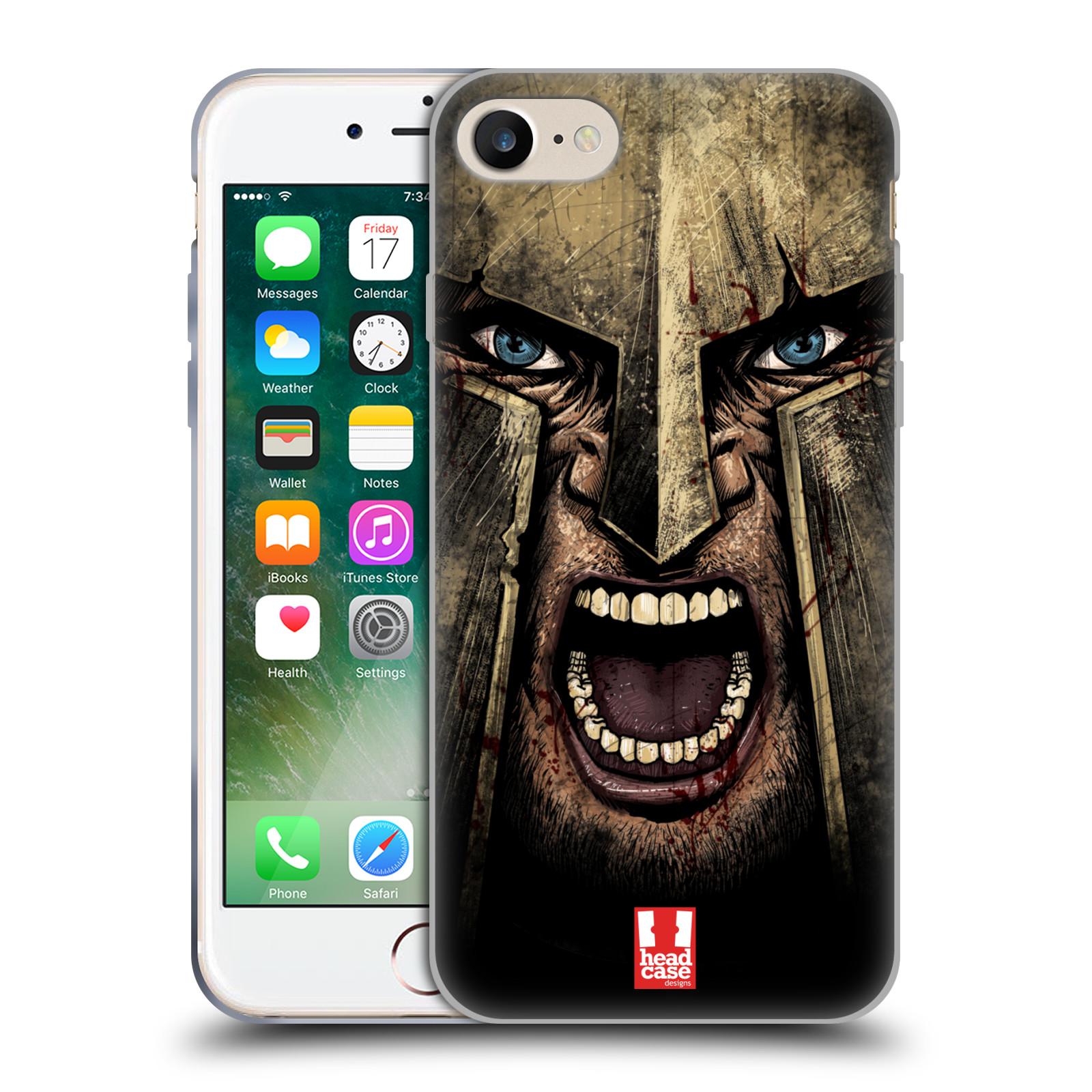 Silikonové pouzdro na mobil Apple iPhone 7 - Head Case - Řvoucí válečník