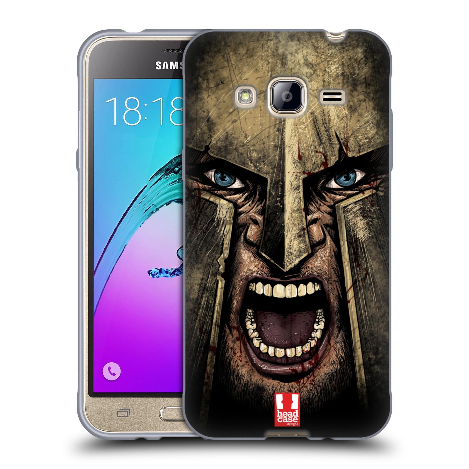 Silikonové pouzdro na mobil Samsung Galaxy J3 (2016) - Head Case - Řvoucí válečník