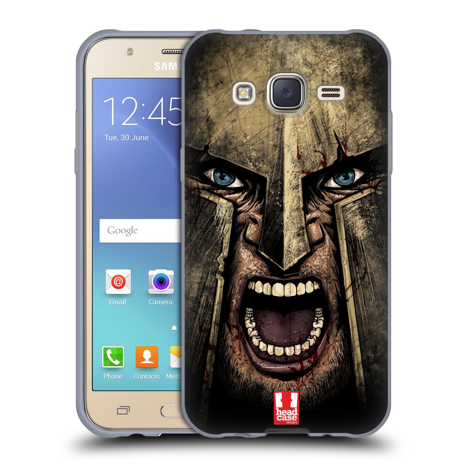 Silikonové pouzdro na mobil Samsung Galaxy J5 - Head Case - Řvoucí válečník