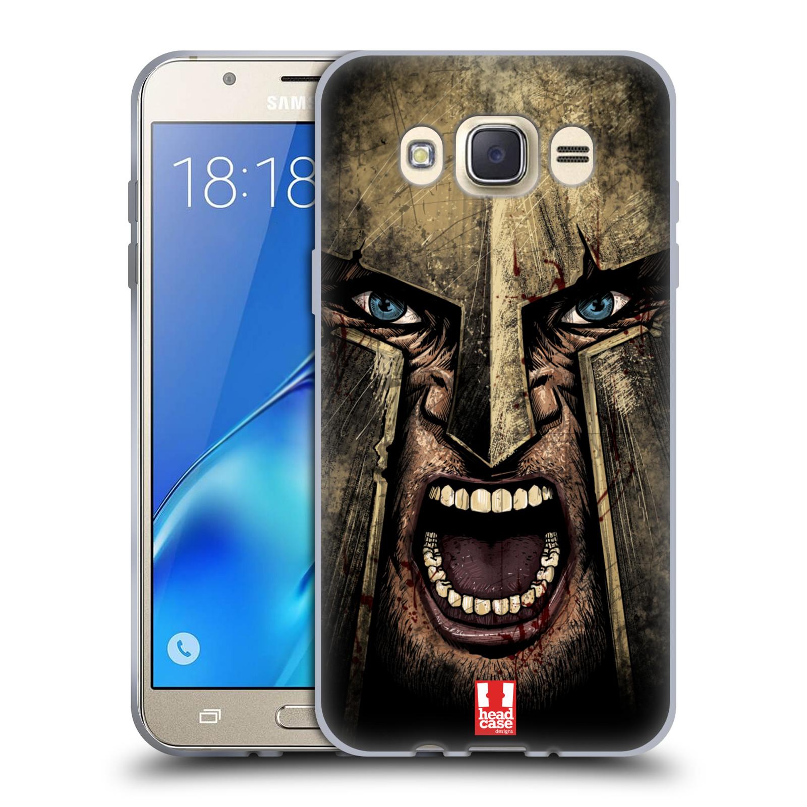 Silikonové pouzdro na mobil Samsung Galaxy J7 (2016) - Head Case - Řvoucí válečník