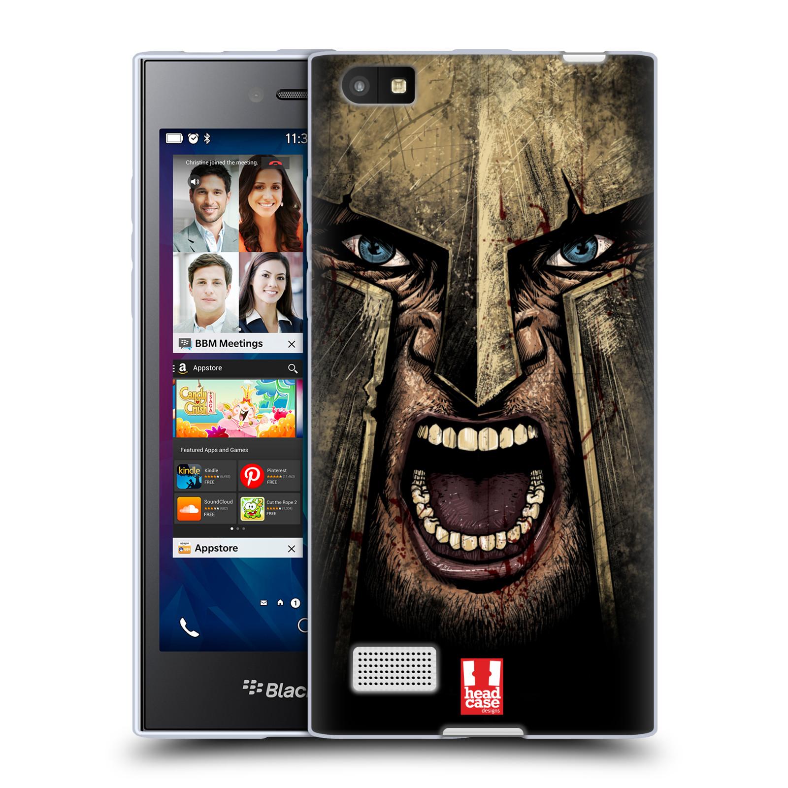 Silikonové pouzdro na mobil Blackberry Leap - Head Case - Řvoucí válečník