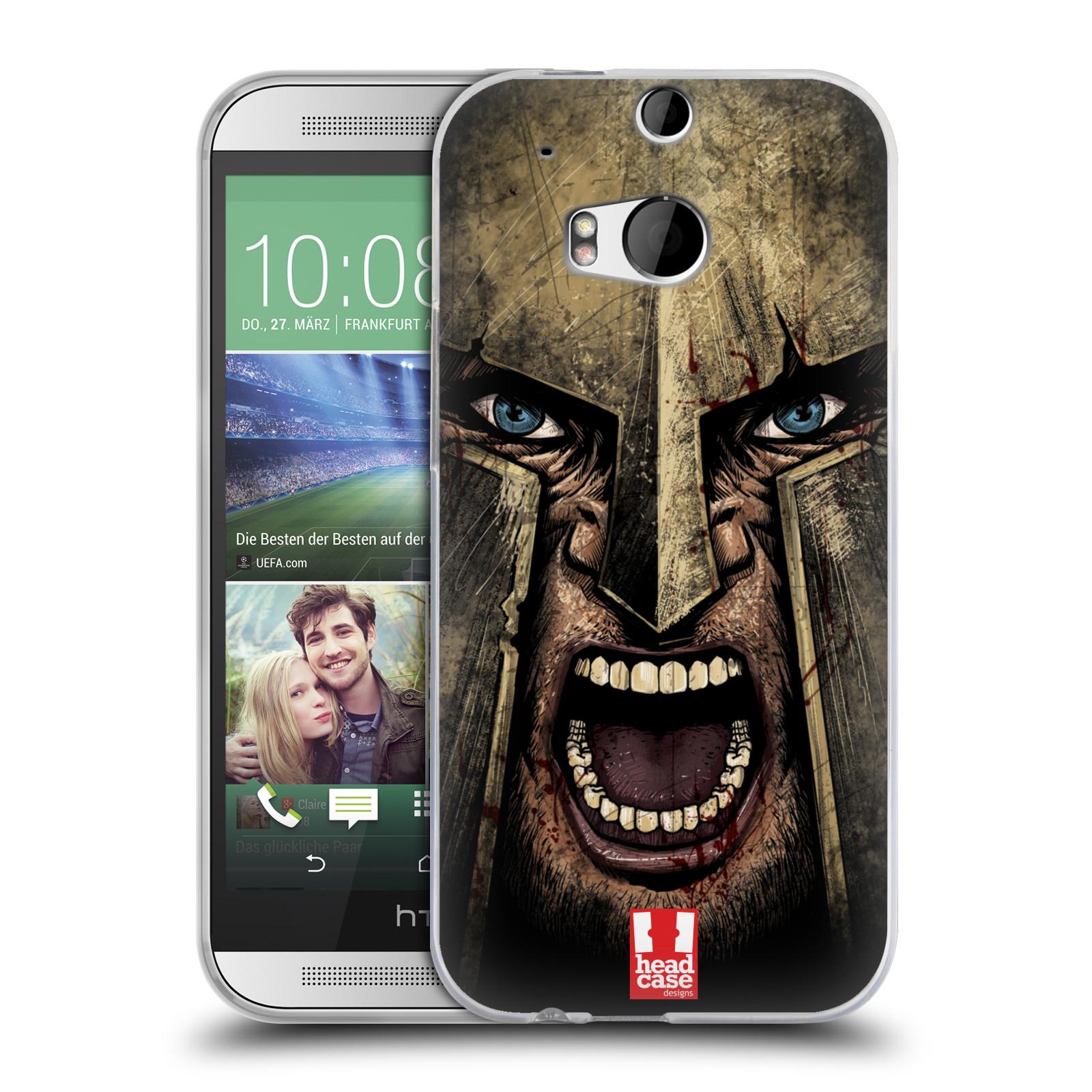 Silikonové pouzdro na mobil HTC ONE M8 - Head Case - Řvoucí válečník