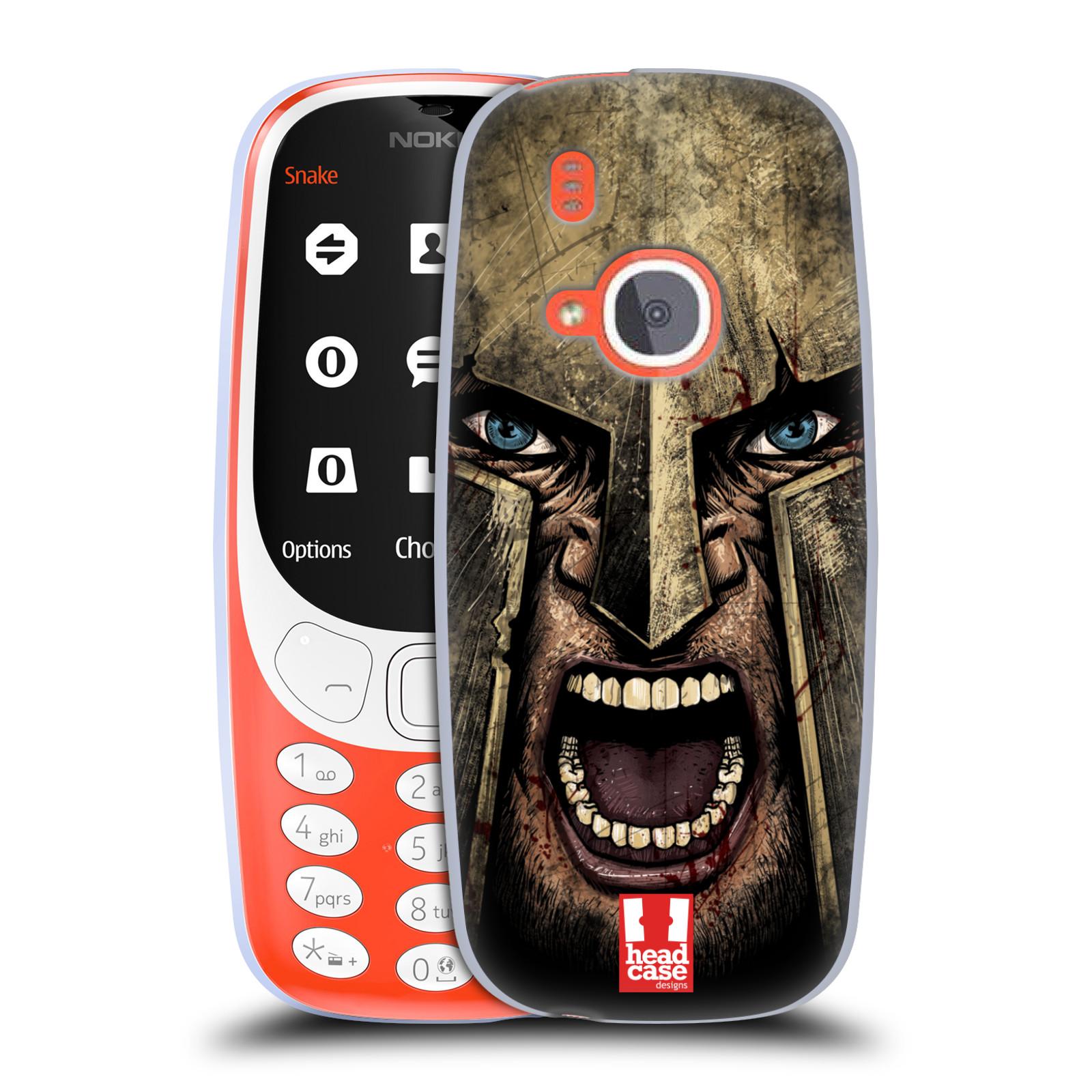 Silikonové pouzdro na mobil Nokia 3310 - Head Case - Řvoucí válečník