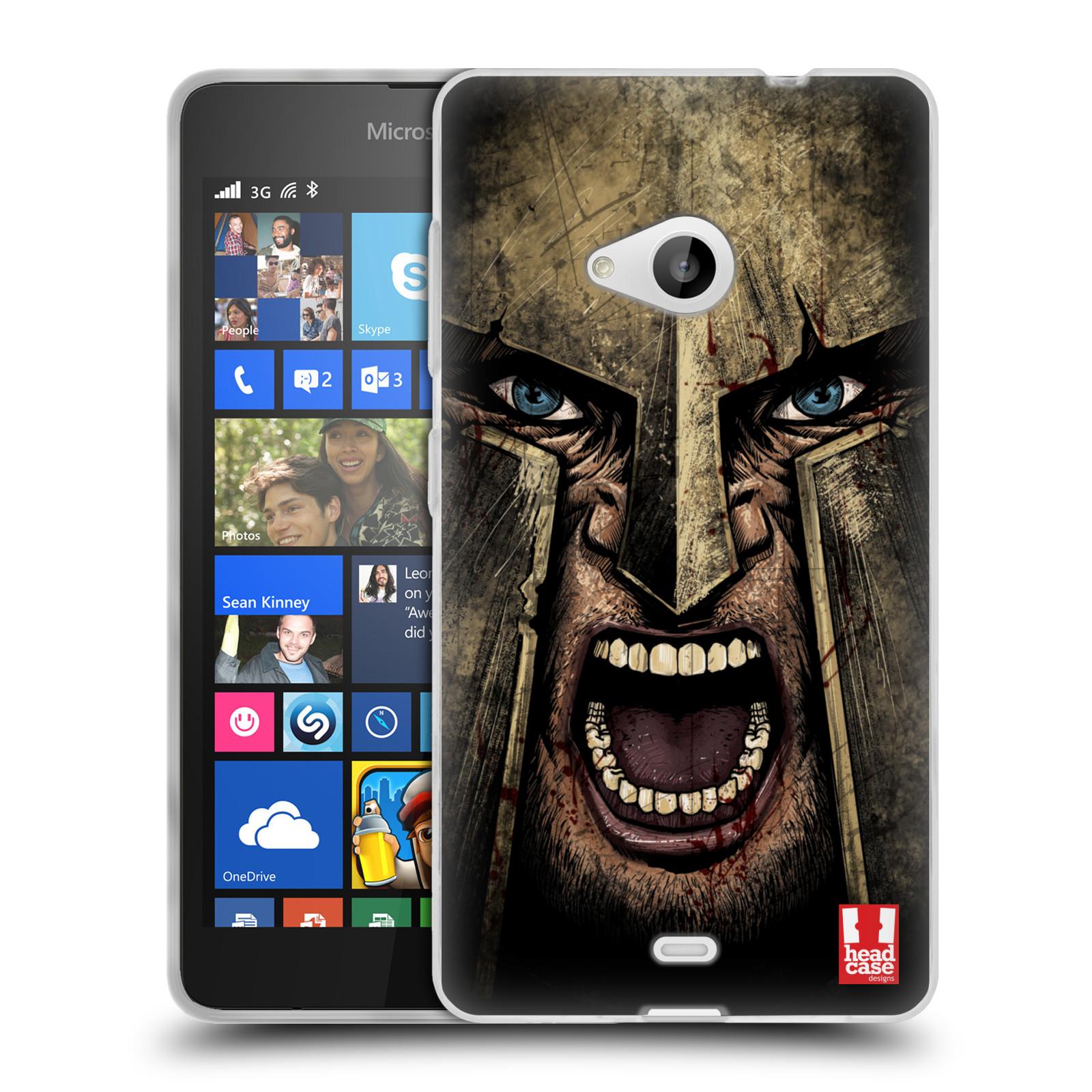 Silikonové pouzdro na mobil Microsoft Lumia 535 - Head Case - Řvoucí válečník