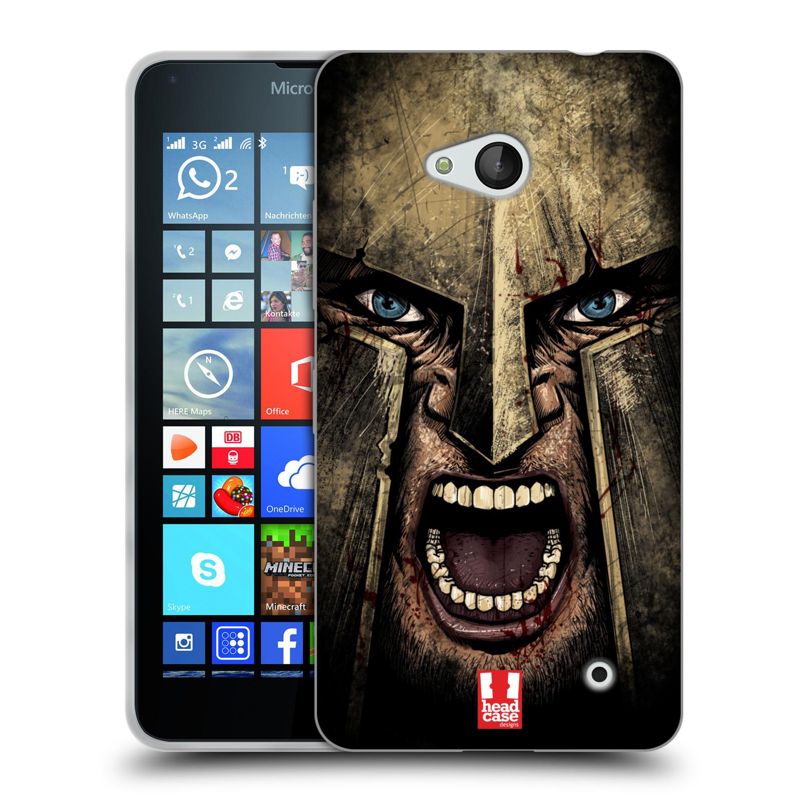 Silikonové pouzdro na mobil Microsoft Lumia 640 - Head Case - Řvoucí válečník