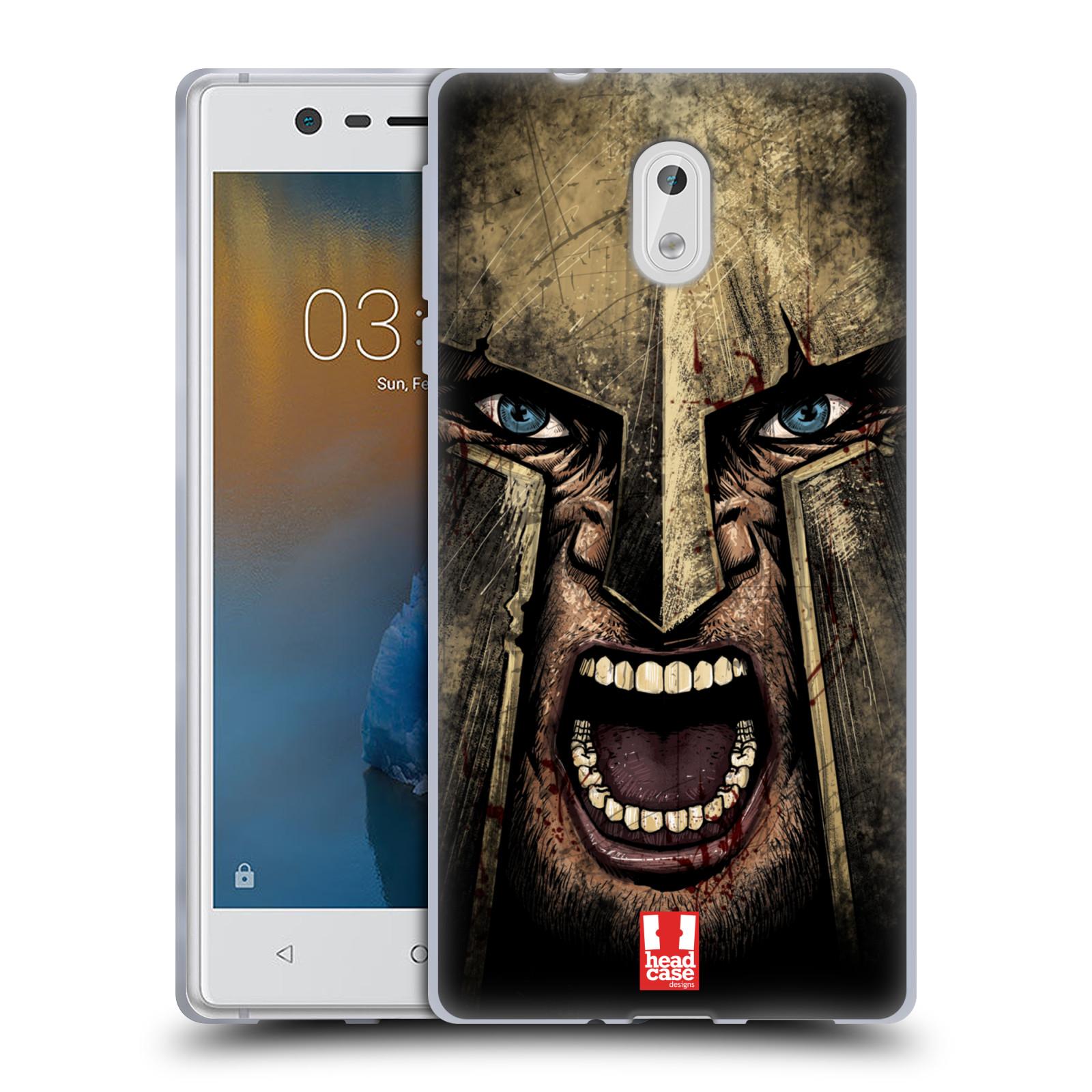 Silikonové pouzdro na mobil Nokia 3 - Head Case - Řvoucí válečník