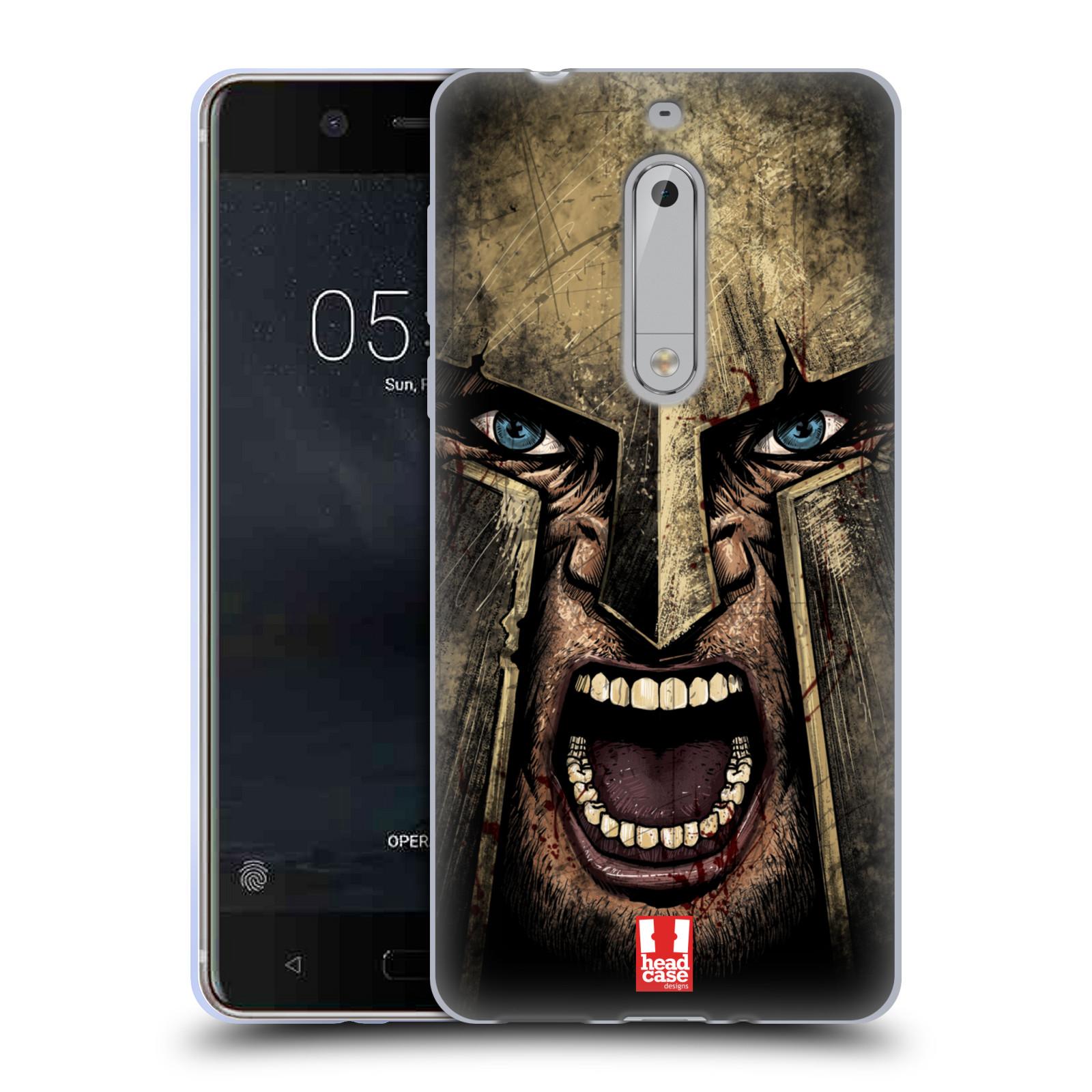 Silikonové pouzdro na mobil Nokia 5 - Head Case - Řvoucí válečník