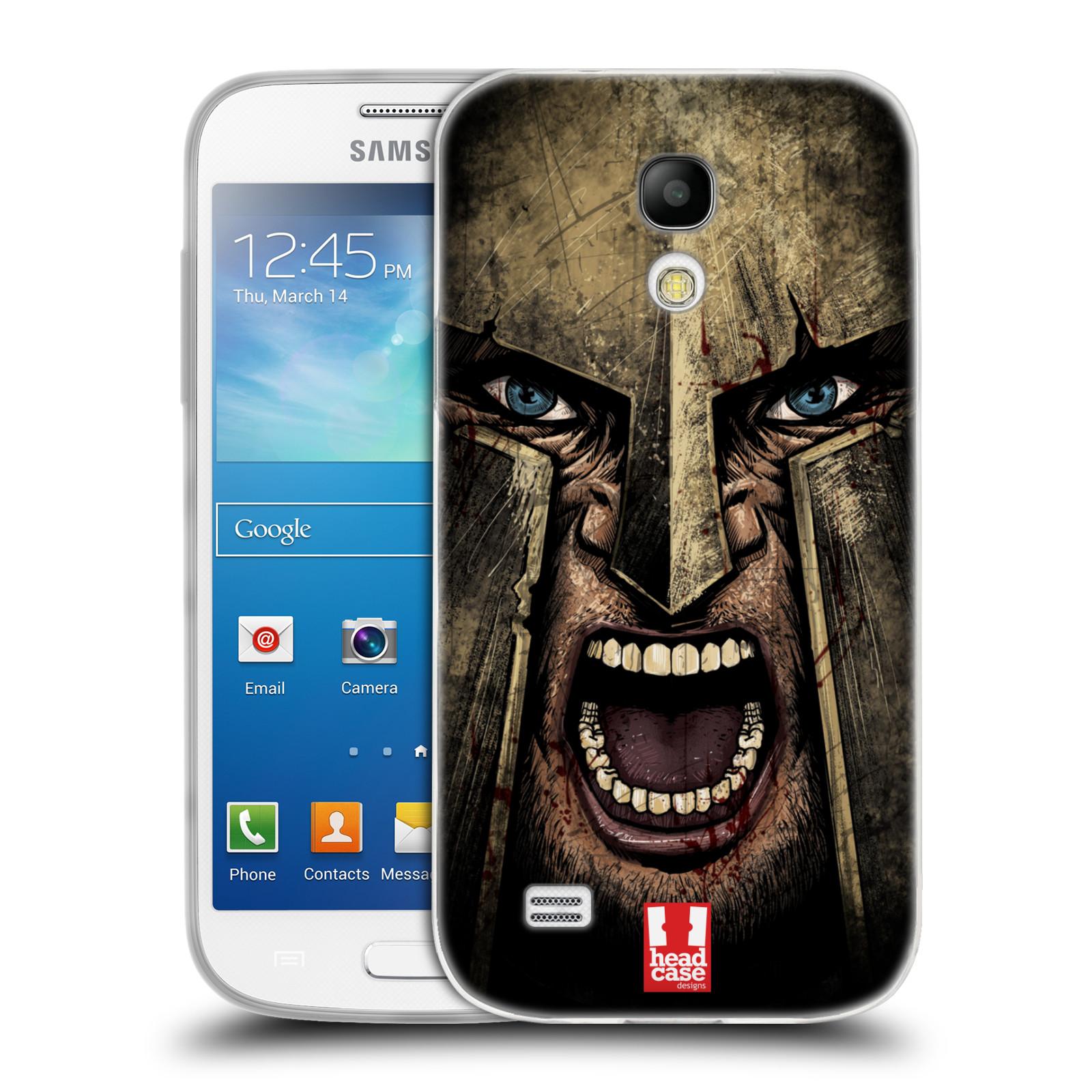 Silikonové pouzdro na mobil Samsung Galaxy S4 Mini - Head Case - Řvoucí válečník
