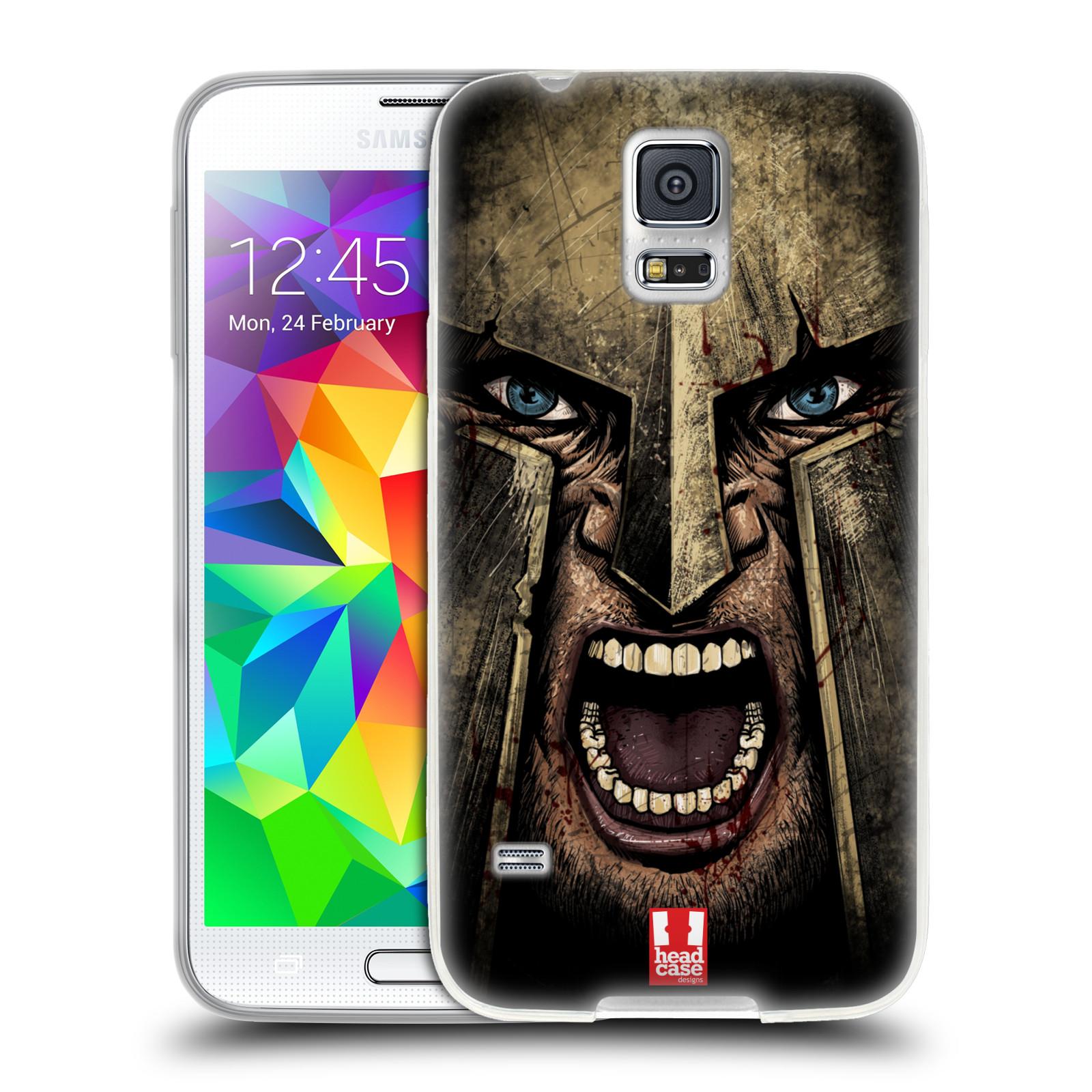 Silikonové pouzdro na mobil Samsung Galaxy S5 Neo - Head Case - Řvoucí válečník