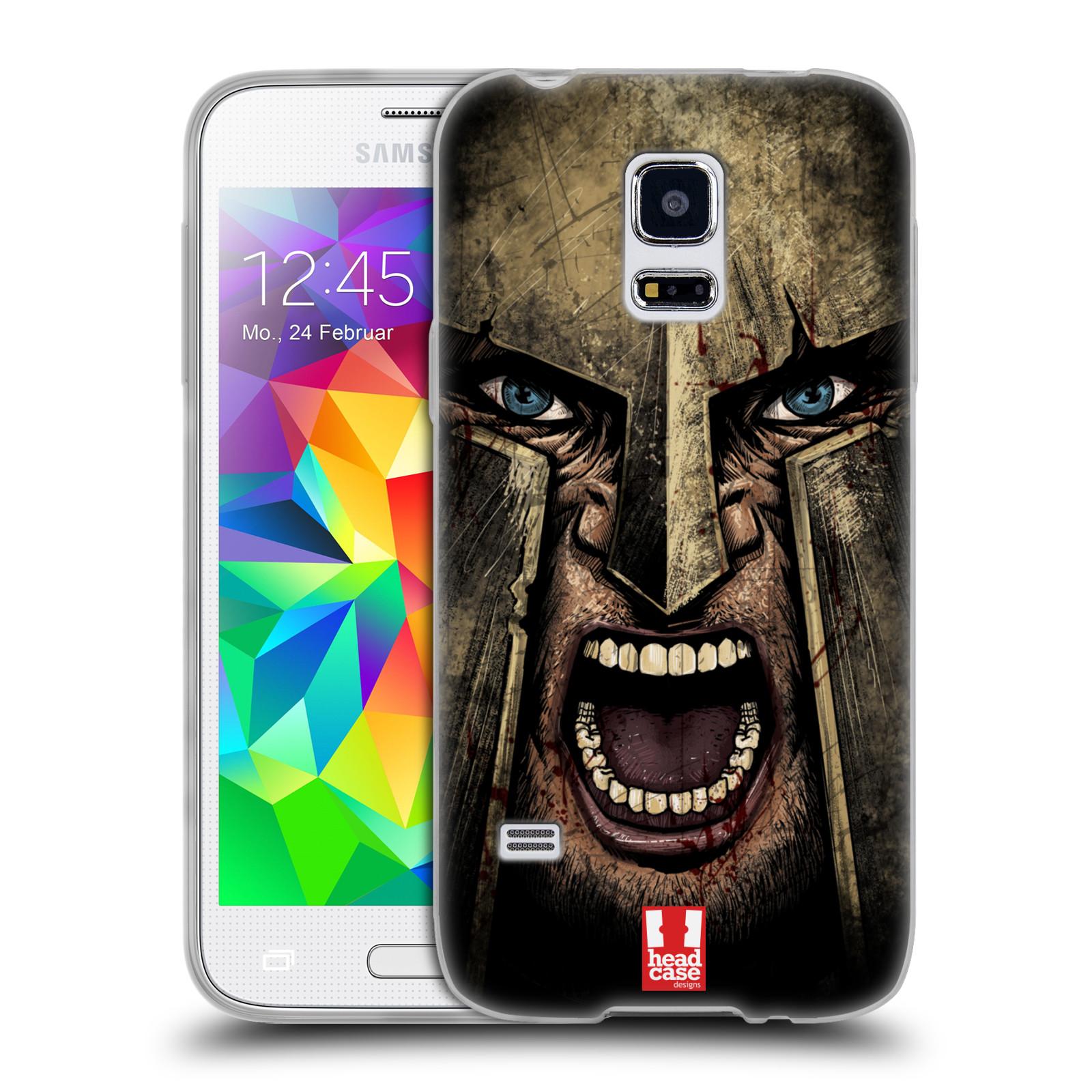 Silikonové pouzdro na mobil Samsung Galaxy S5 Mini - Head Case - Řvoucí válečník