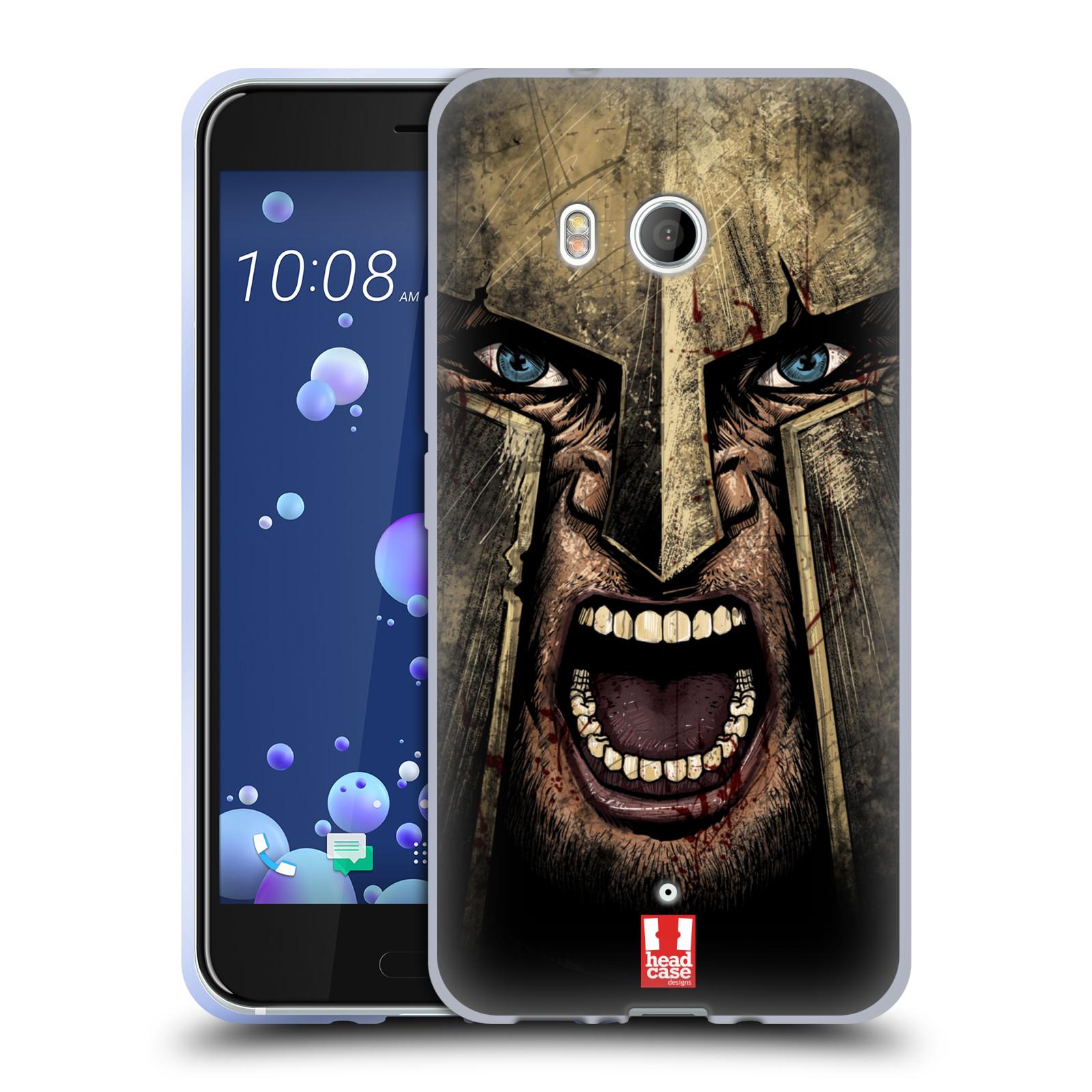 Silikonové pouzdro na mobil HTC U11 - Head Case - Řvoucí válečník