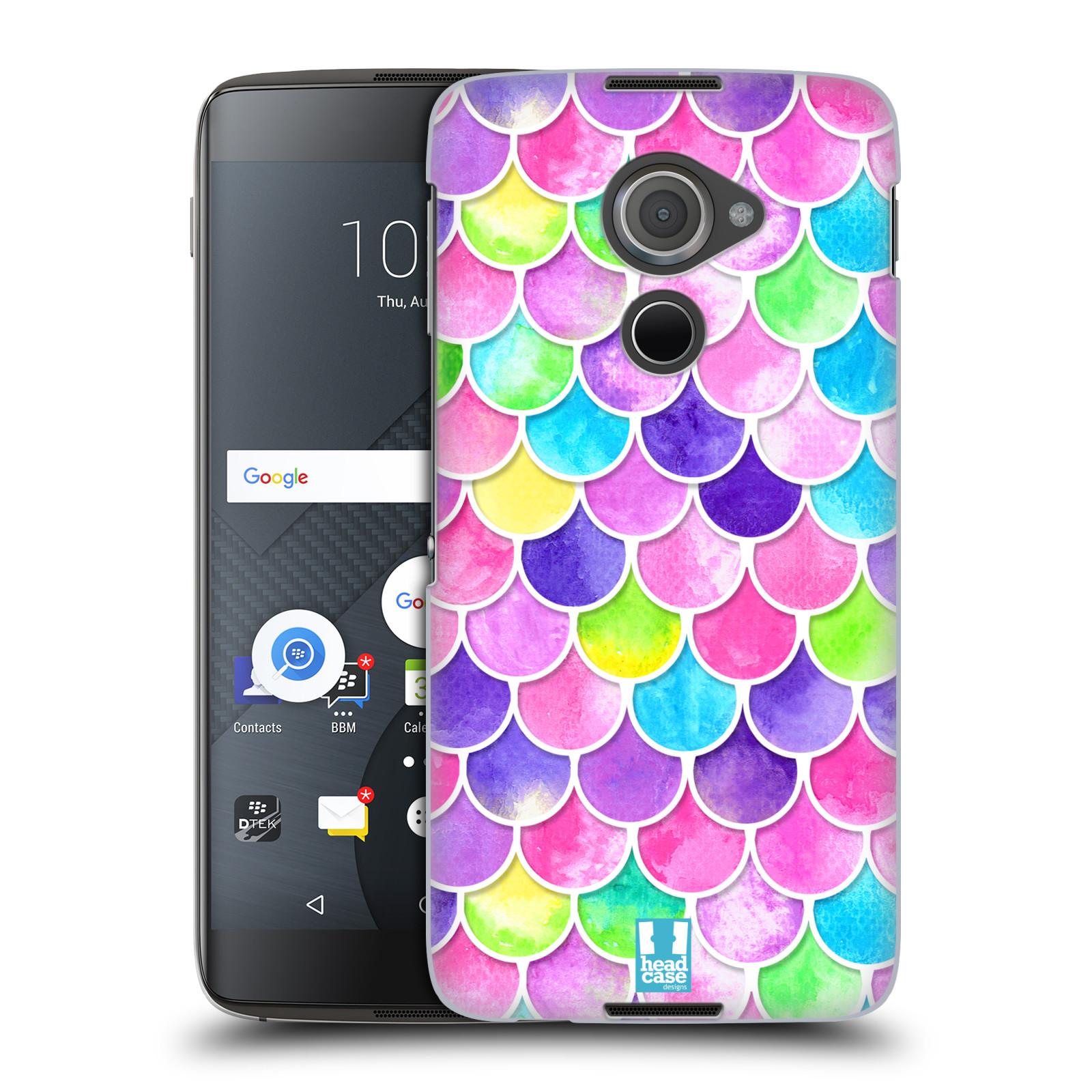 Plastové pouzdro na mobil Blackberry DTEK60 (Argon) - Head Case - Barevné šupinky (Plastový kryt či obal na mobilní telefon s motivem šupinek pro Blackberry DTEK60 (Argon))