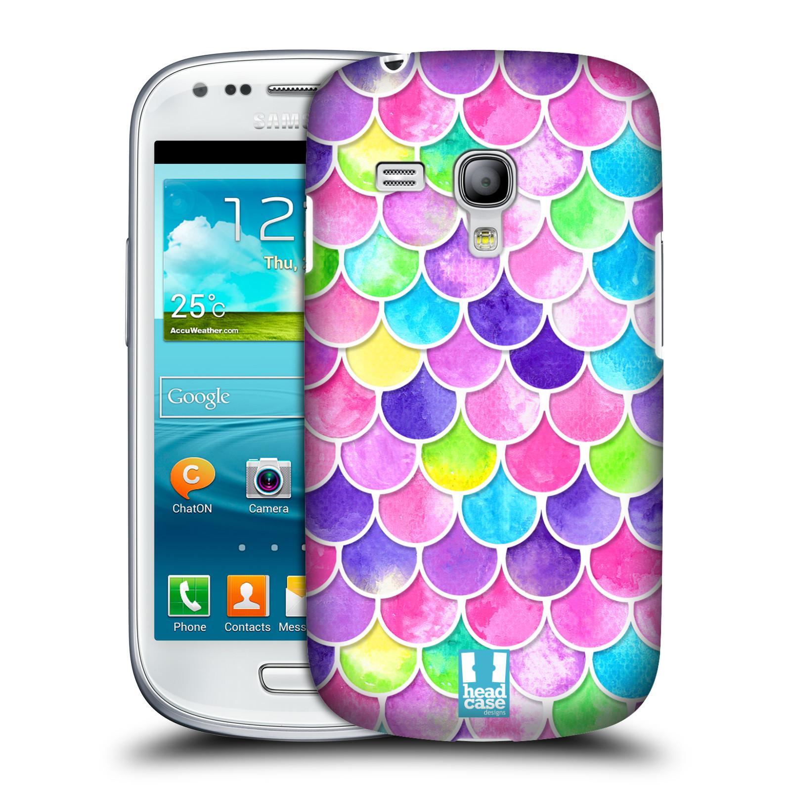Silikonové pouzdro na mobil Samsung Galaxy S III Mini VE - Head Case - Barevné šupinky (Plastový kryt či obal na mobilní telefon s motivem šupinek pro Samsung Galaxy S3 Mini VE GT-i8200)