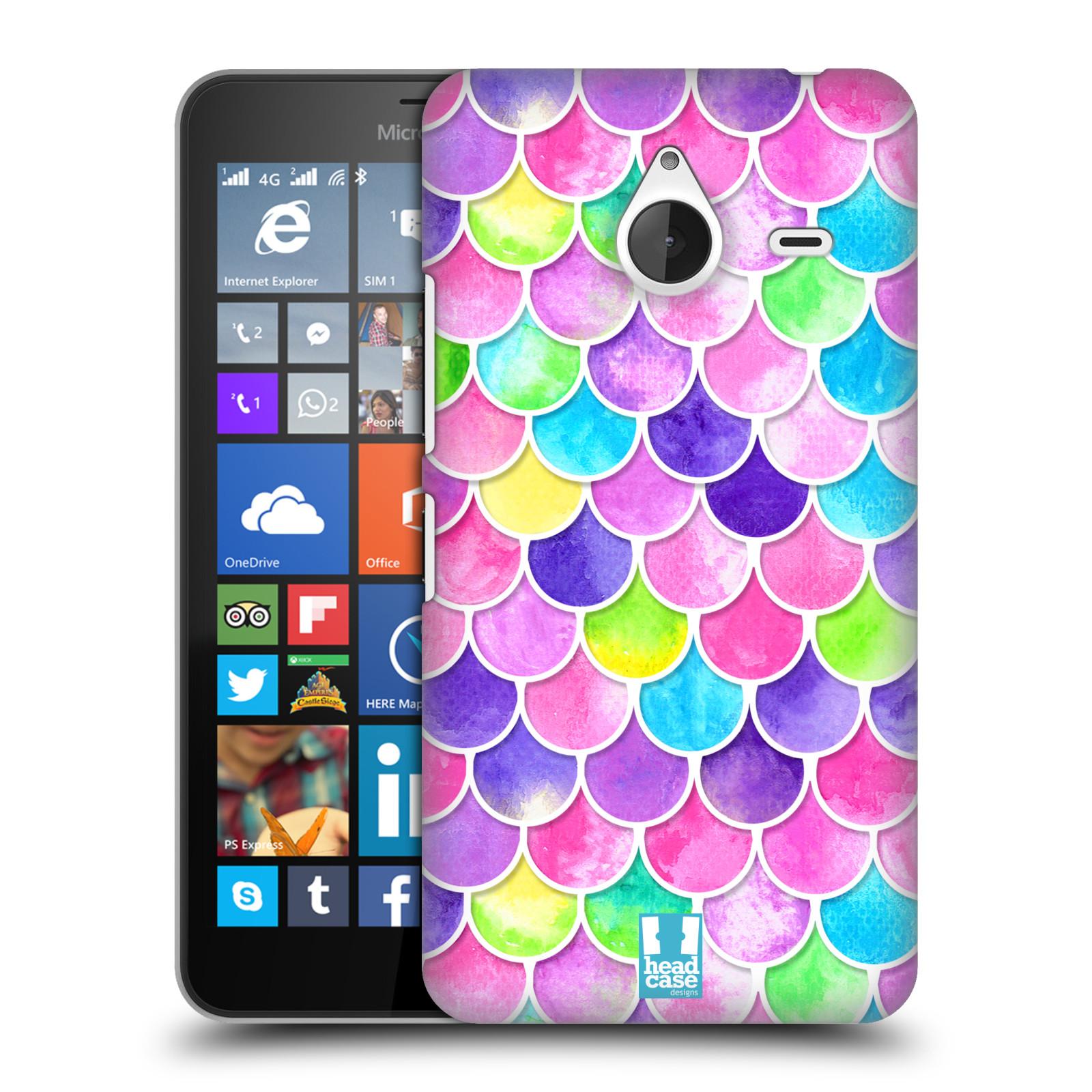 Plastové pouzdro na mobil Microsoft Lumia 640 XL - Head Case - Barevné šupinky (Plastový kryt či obal na mobilní telefon s motivem šupinek pro Microsoft Lumia 640 XL)