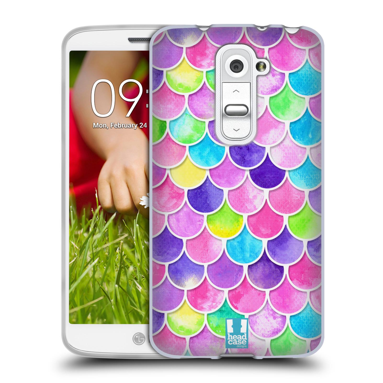 Silikonové pouzdro na mobil LG G2 Mini - Head Case - Barevné šupinky (Silikonový kryt či obal na mobilní telefon s motivem šupinek pro LG G2 Mini D620)