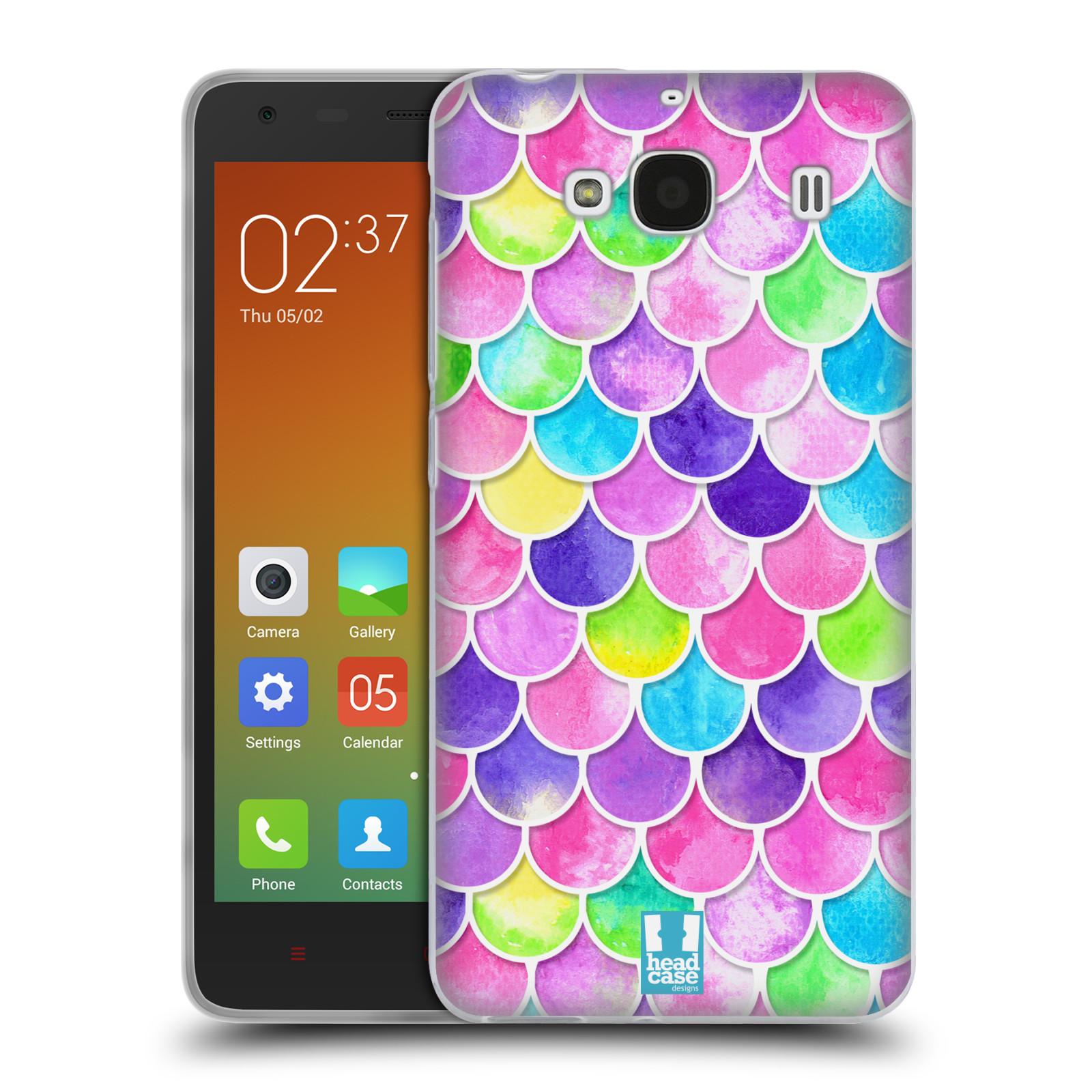 Silikonové pouzdro na mobil Xiaomi Redmi 2 - Head Case - Barevné šupinky (Silikonový kryt či obal na mobilní telefon s motivem šupinek pro Xiaomi Redmi 2)