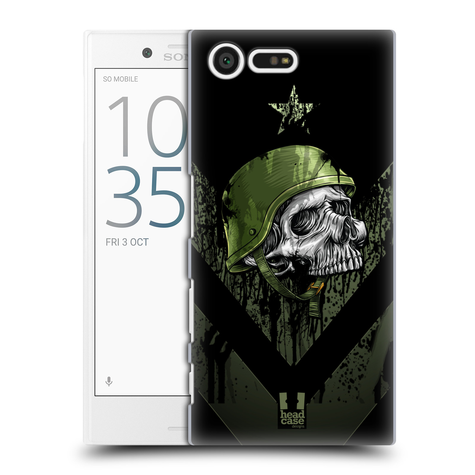 Plastové pouzdro na mobil Sony Xperia X Compact HEAD CASE LEBKA ONE MAN