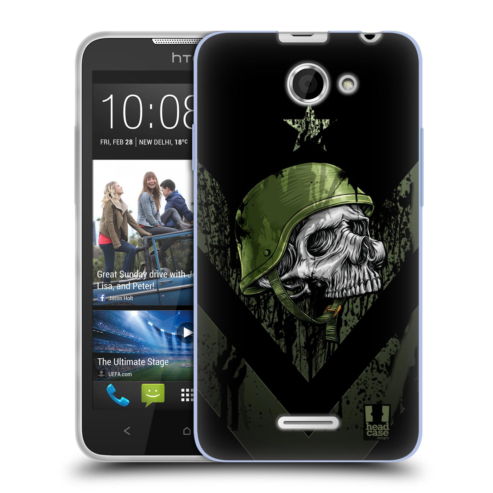 Silikonové pouzdro na mobil HTC Desire 516 HEAD CASE LEBKA ONE MAN (Silikonový kryt či obal na mobilní telefon HTC Desire 516 Dual SIM)