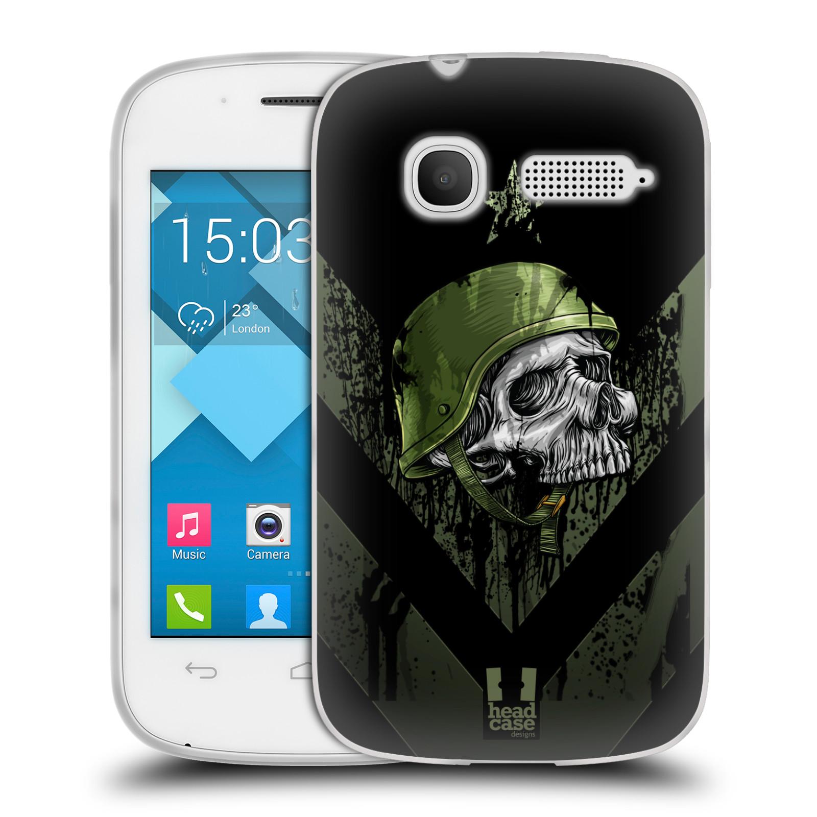 Silikonové pouzdro na mobil Alcatel One Touch Pop C1 HEAD CASE LEBKA ONE MAN (Silikonový kryt či obal na mobilní telefon Alcatel OT-4015D POP C1)