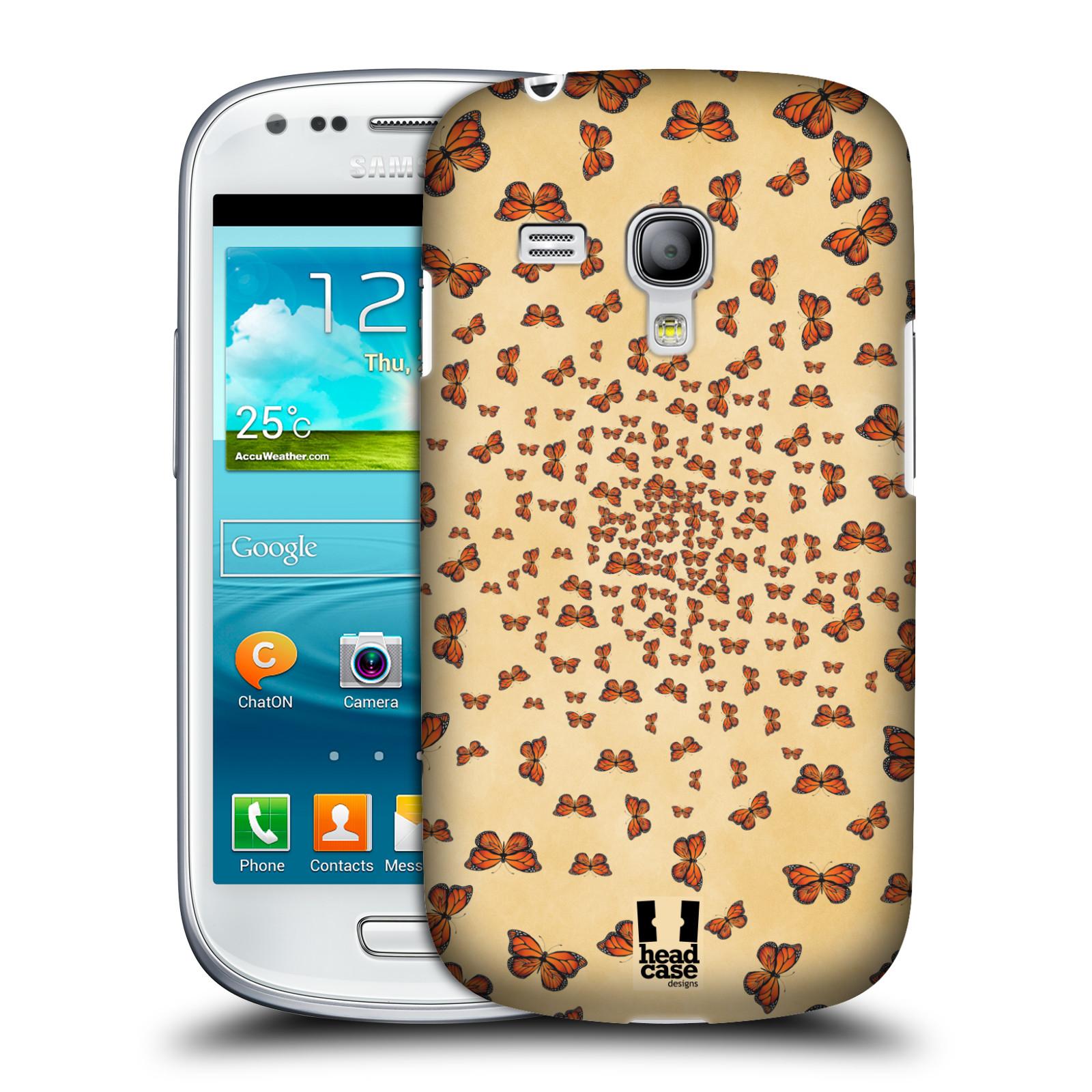 Silikonové pouzdro na mobil Samsung Galaxy S III Mini VE - Head Case - Mraky motýlků (Plastový kryt či obal na mobilní telefon s motivem motýlů monarchů pro Samsung Galaxy S3 Mini VE GT-i8200)