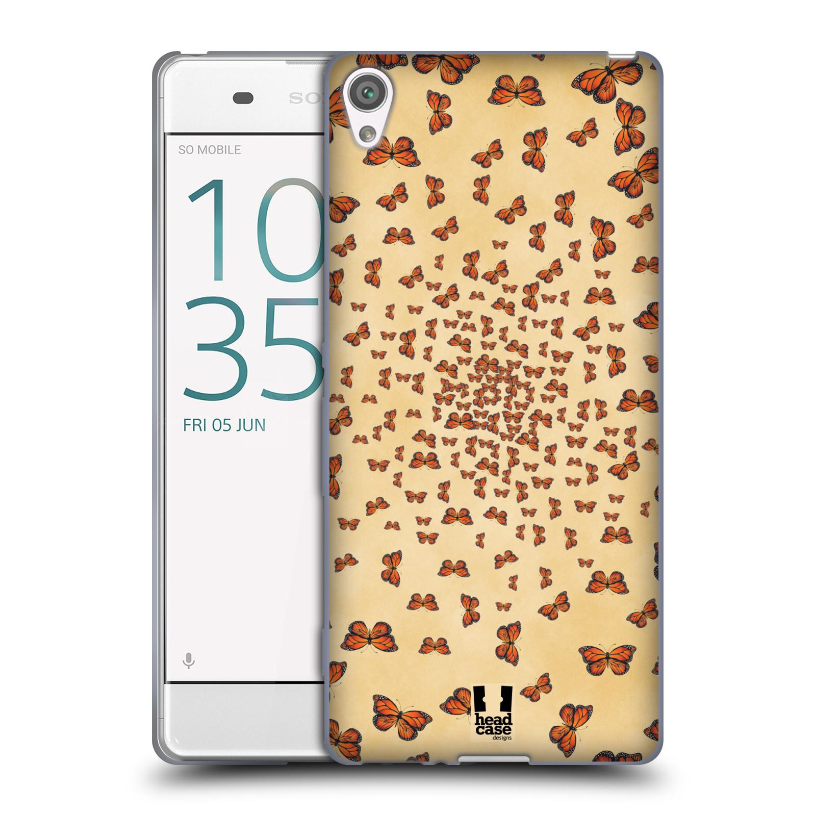 Silikonové pouzdro na mobil Sony Xperia XA - Head Case - Mraky motýlků