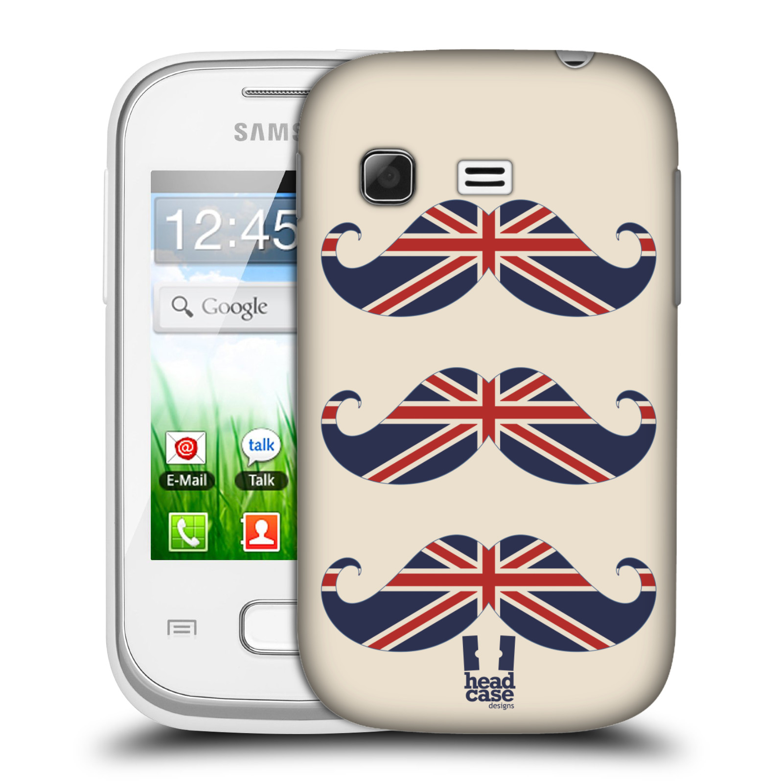 Plastové pouzdro na mobil Samsung Galaxy Pocket HEAD CASE BRITSKÉ KNÍRY (Plastový kryt či obal na mobilní telefon Samsung Galaxy Pocket GT-S5300)