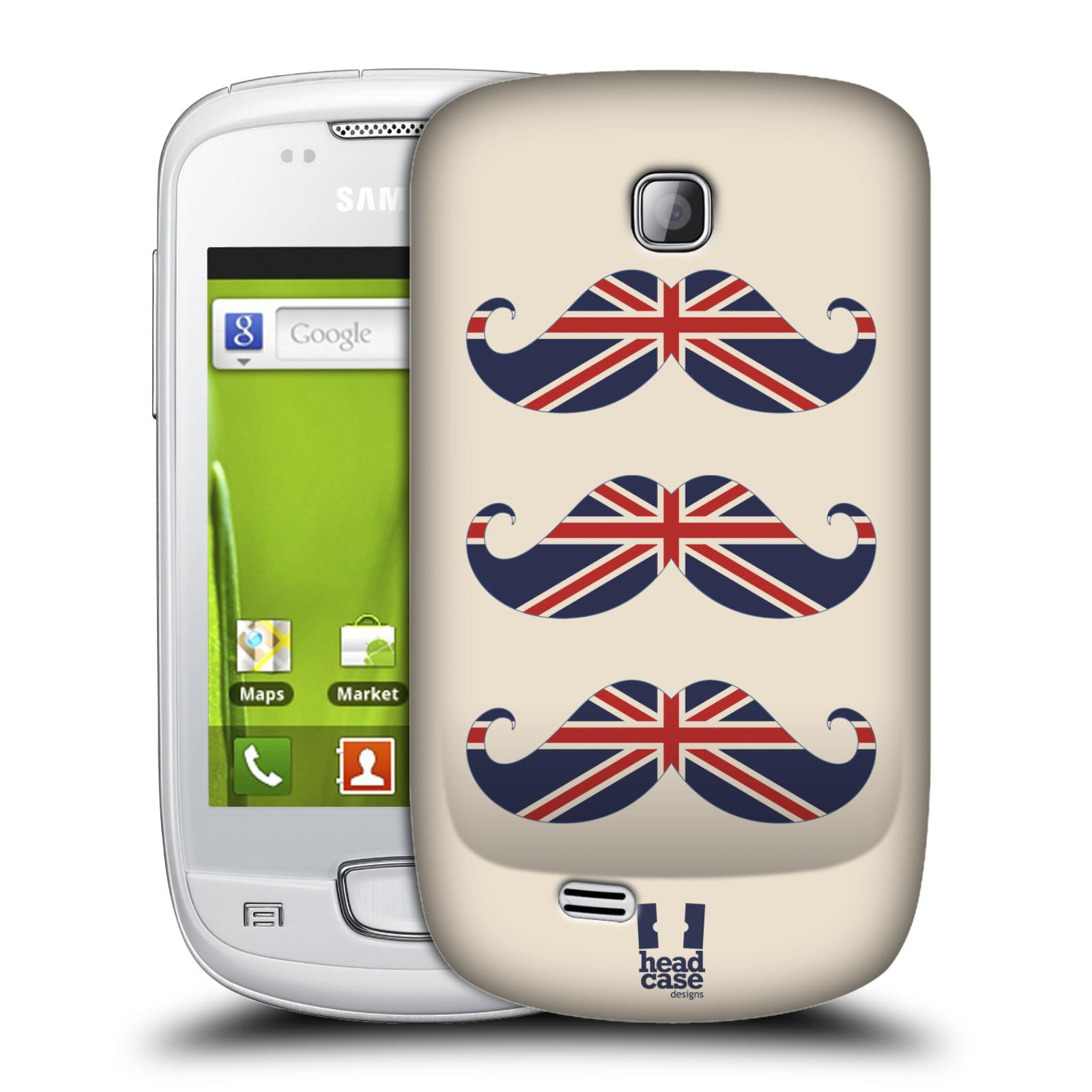 Plastové pouzdro na mobil Samsung Galaxy Mini HEAD CASE BRITSKÉ KNÍRY (Plastový kryt či obal na mobilní telefon Samsung Galaxy Mini GT-S5570 / GT-S5570i)