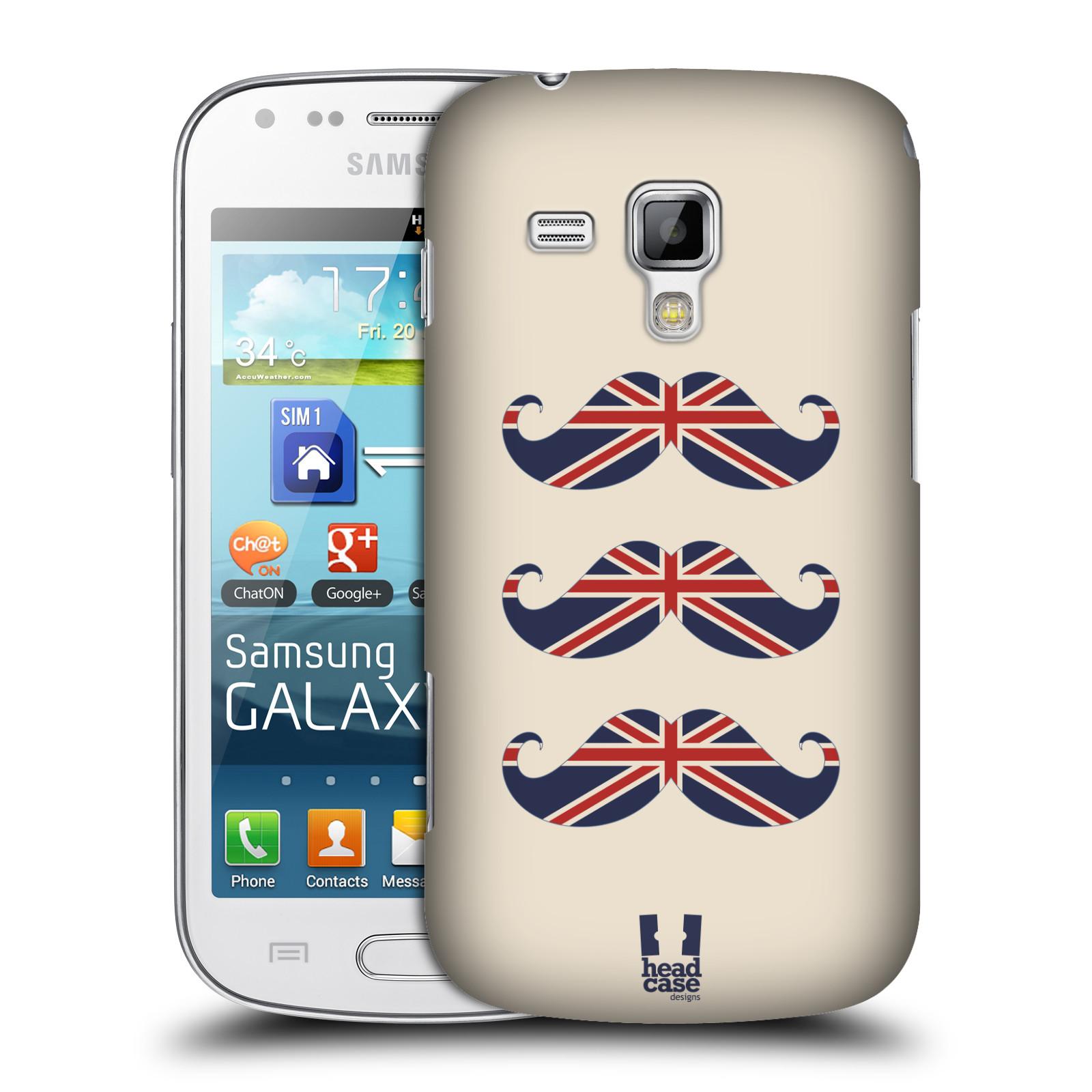 Plastové pouzdro na mobil Samsung Galaxy Trend Plus HEAD CASE BRITSKÉ KNÍRY (Plastový kryt či obal na mobilní telefon Samsung Galaxy Trend Plus GT-S7580)