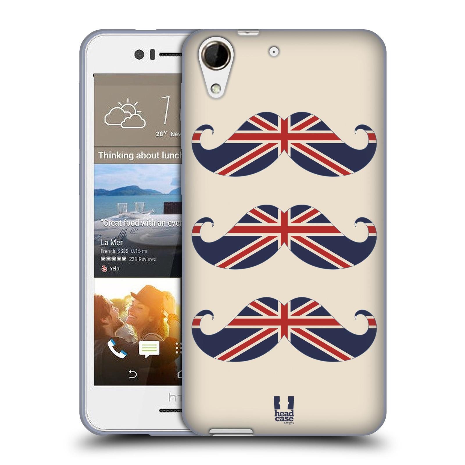 Silikonové pouzdro na mobil HTC Desire 728G Dual SIM HEAD CASE BRITSKÉ KNÍRY (Silikonový kryt či obal na mobilní telefon HTC Desire 728 G Dual SIM)