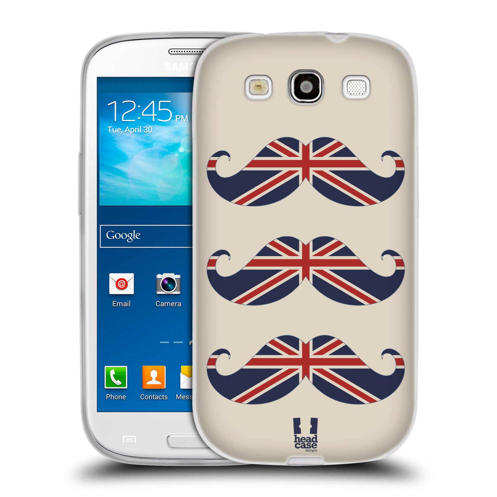 Silikonové pouzdro na mobil Samsung Galaxy S3 Neo HEAD CASE BRITSKÉ KNÍRY (Silikonový kryt či obal na mobilní telefon Samsung Galaxy S3 Neo GT-i9301i)