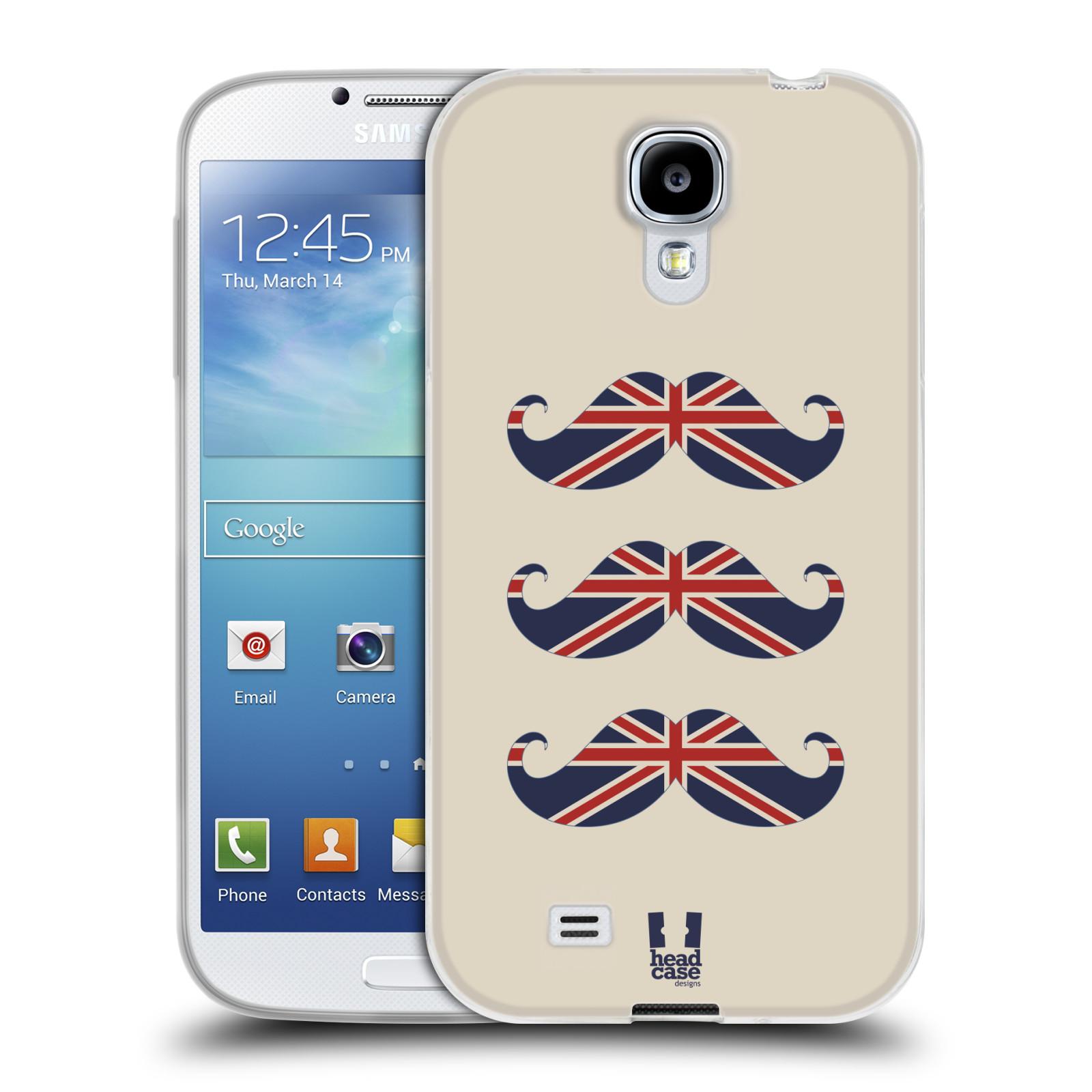 Silikonové pouzdro na mobil Samsung Galaxy S4 HEAD CASE BRITSKÉ KNÍRY (Silikonový kryt či obal na mobilní telefon Samsung Galaxy S4 GT-i9505 / i9500)