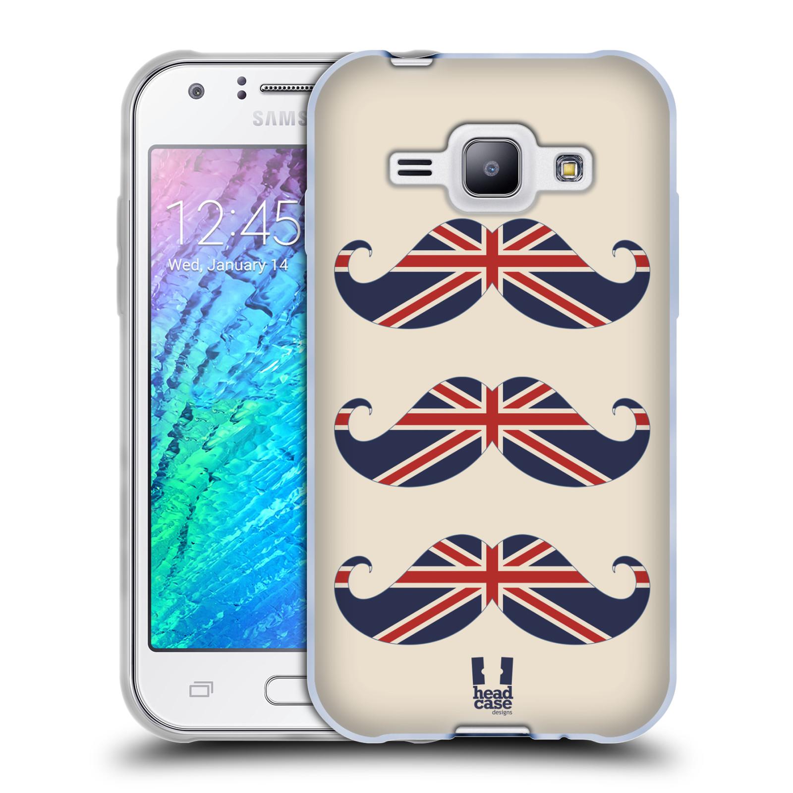 Silikonové pouzdro na mobil Samsung Galaxy J1 HEAD CASE BRITSKÉ KNÍRY (Silikonový kryt či obal na mobilní telefon Samsung Galaxy J1 a J1 Duos)