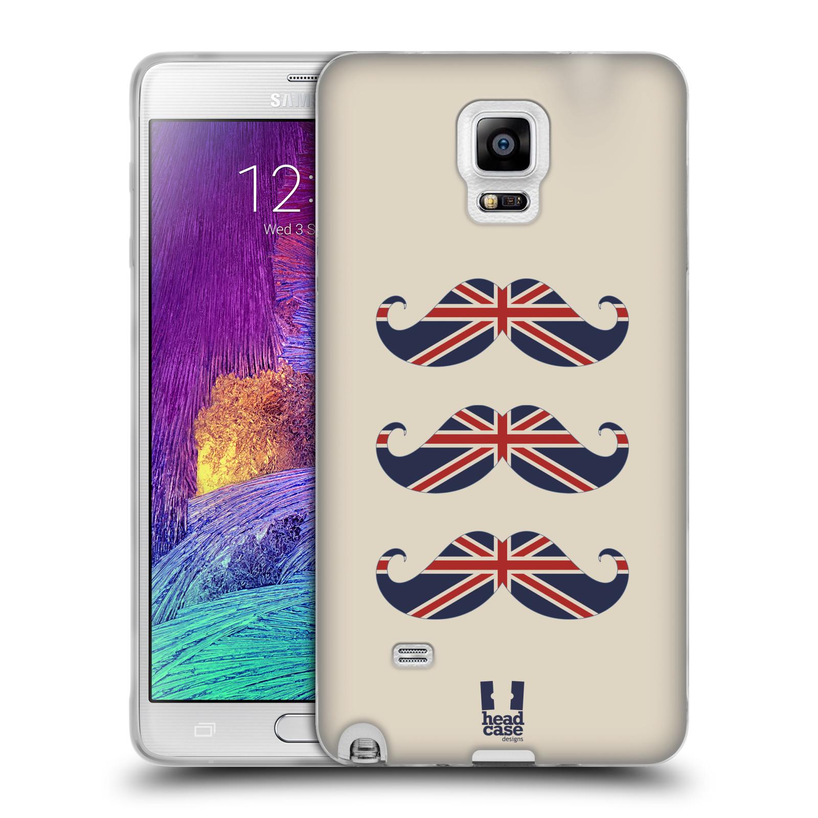 Silikonové pouzdro na mobil Samsung Galaxy Note 4 HEAD CASE BRITSKÉ KNÍRY (Silikonový kryt či obal na mobilní telefon Samsung Galaxy Note 4 SM-N910F)