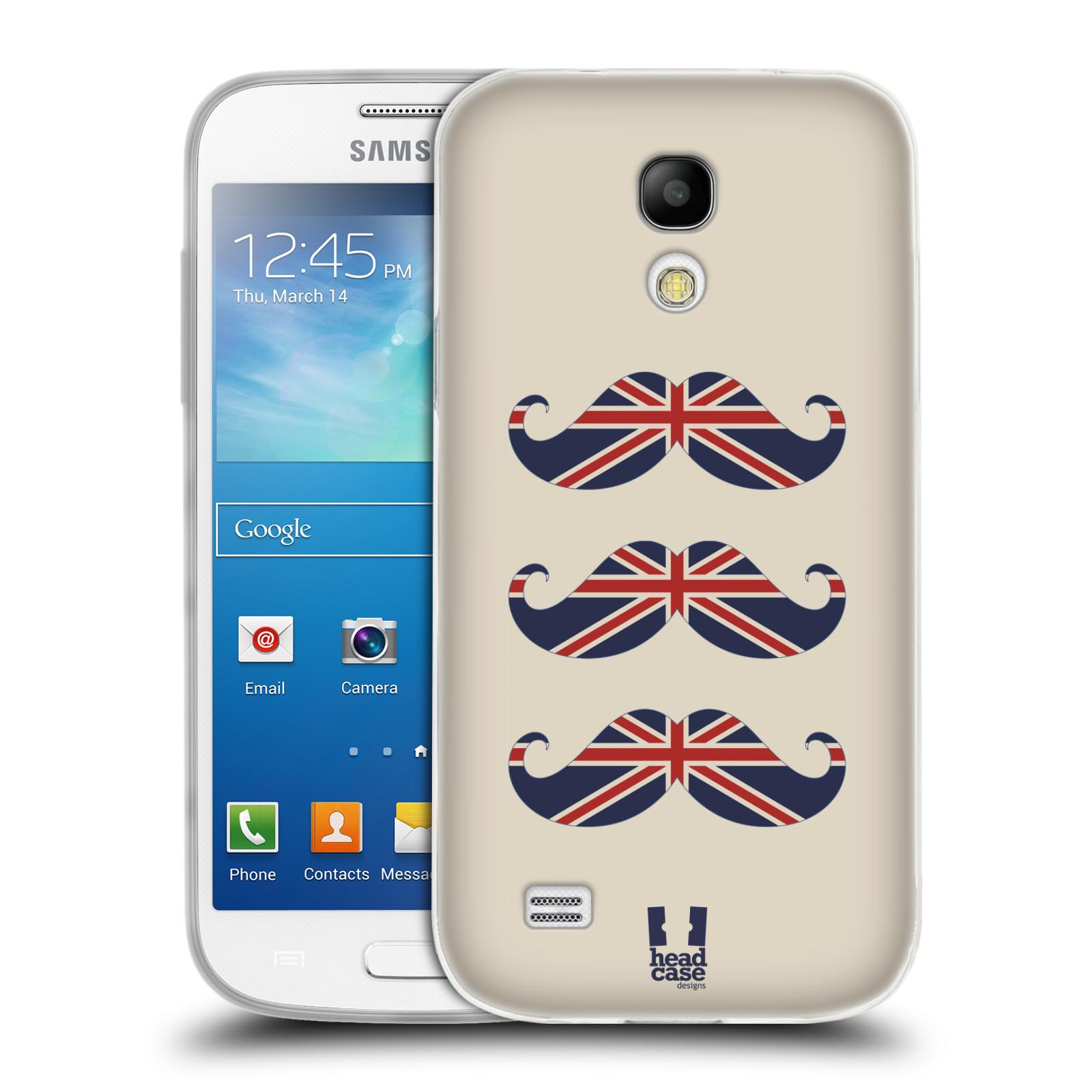 Silikonové pouzdro na mobil Samsung Galaxy S4 Mini HEAD CASE BRITSKÉ KNÍRY (Silikonový kryt či obal na mobilní telefon Samsung Galaxy S4 Mini GT-i9195 / i9190)