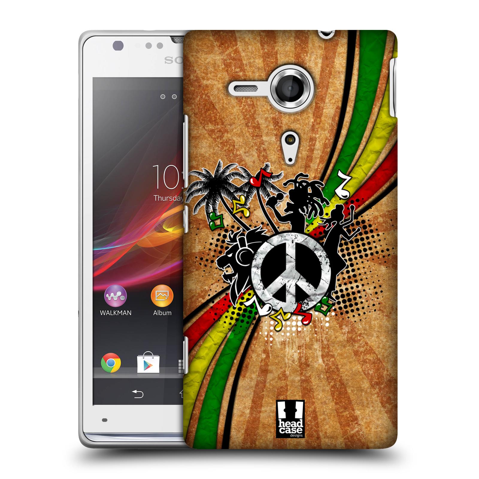 Plastové pouzdro na mobil Sony Xperia SP C5303 HEAD CASE REGGAE (Kryt či obal na mobilní telefon Sony Xperia SP )