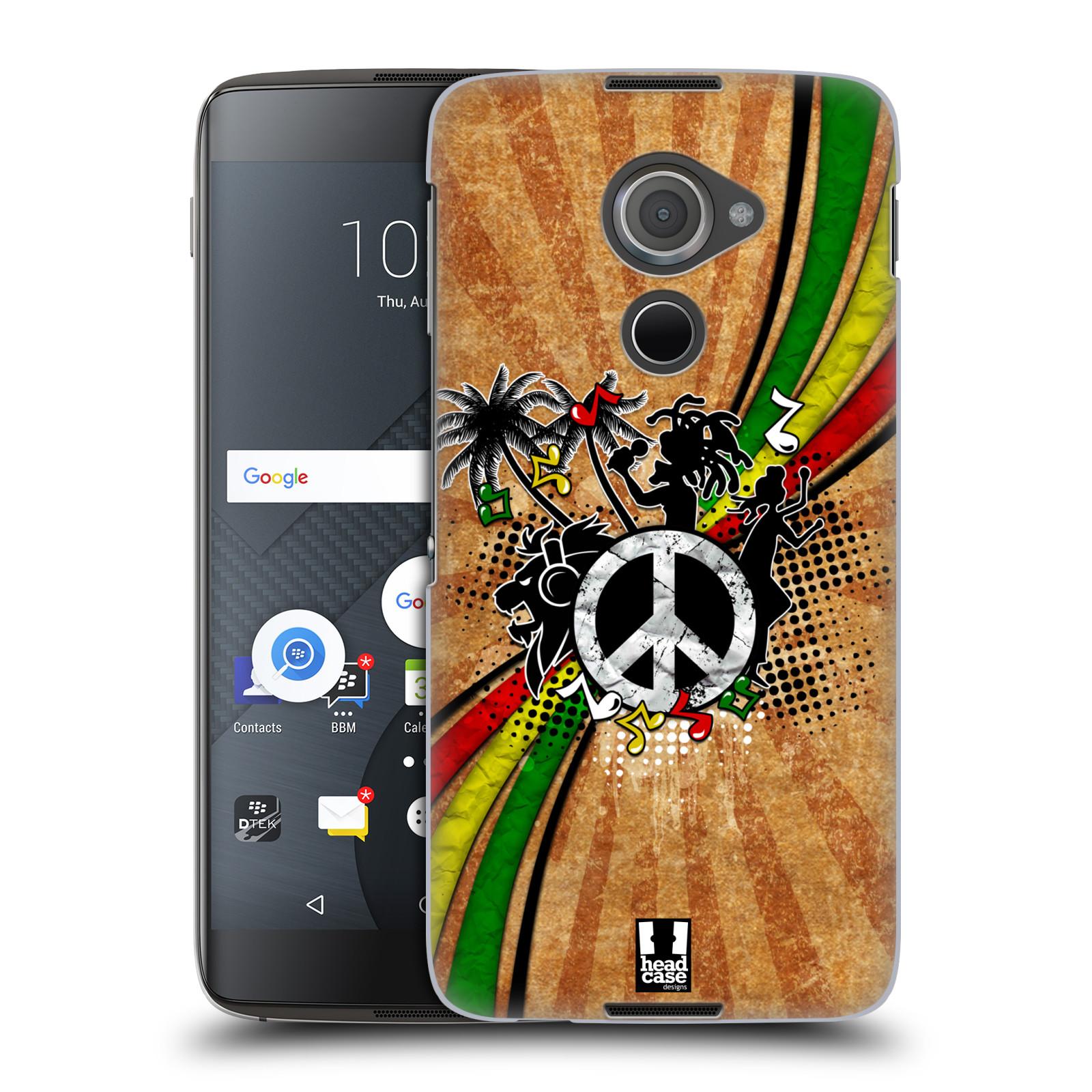Plastové pouzdro na mobil Blackberry DTEK60 (Argon) - Head Case REGGAE (Plastový kryt či obal na mobilní telefon Blackberry DTEK60 (Argon))