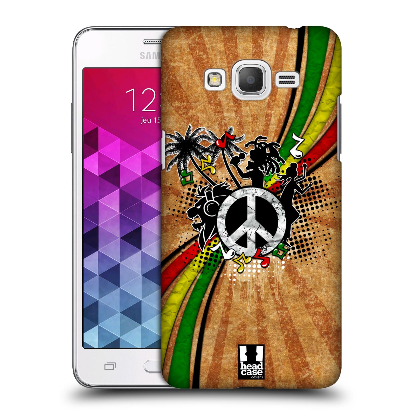 Plastové pouzdro na mobil Samsung Galaxy Grand Prime VE HEAD CASE REGGAE