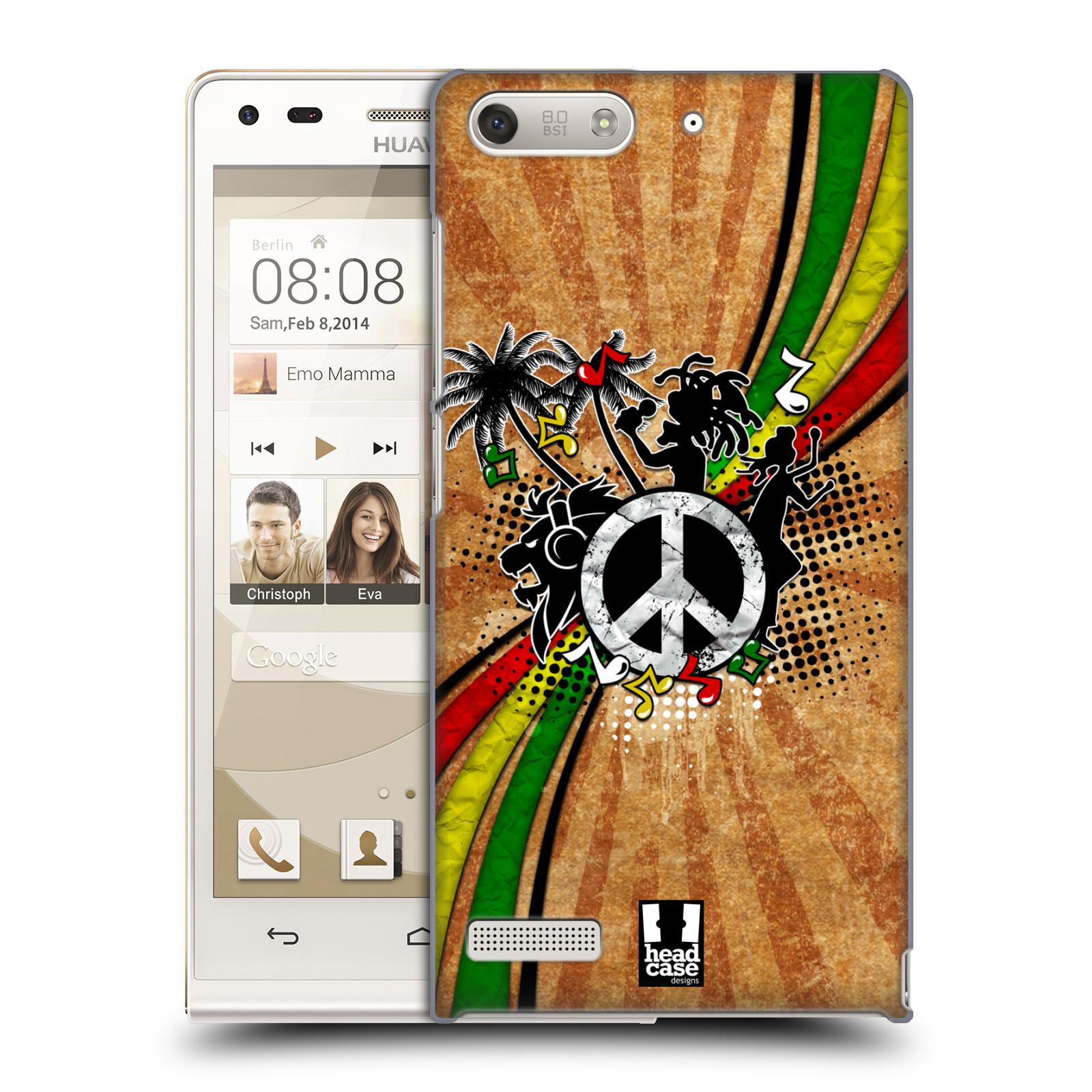 Plastové pouzdro na mobil Huawei Ascend G6 HEAD CASE REGGAE (Kryt či obal na mobilní telefon Huawei Ascend G6 bez LTE)