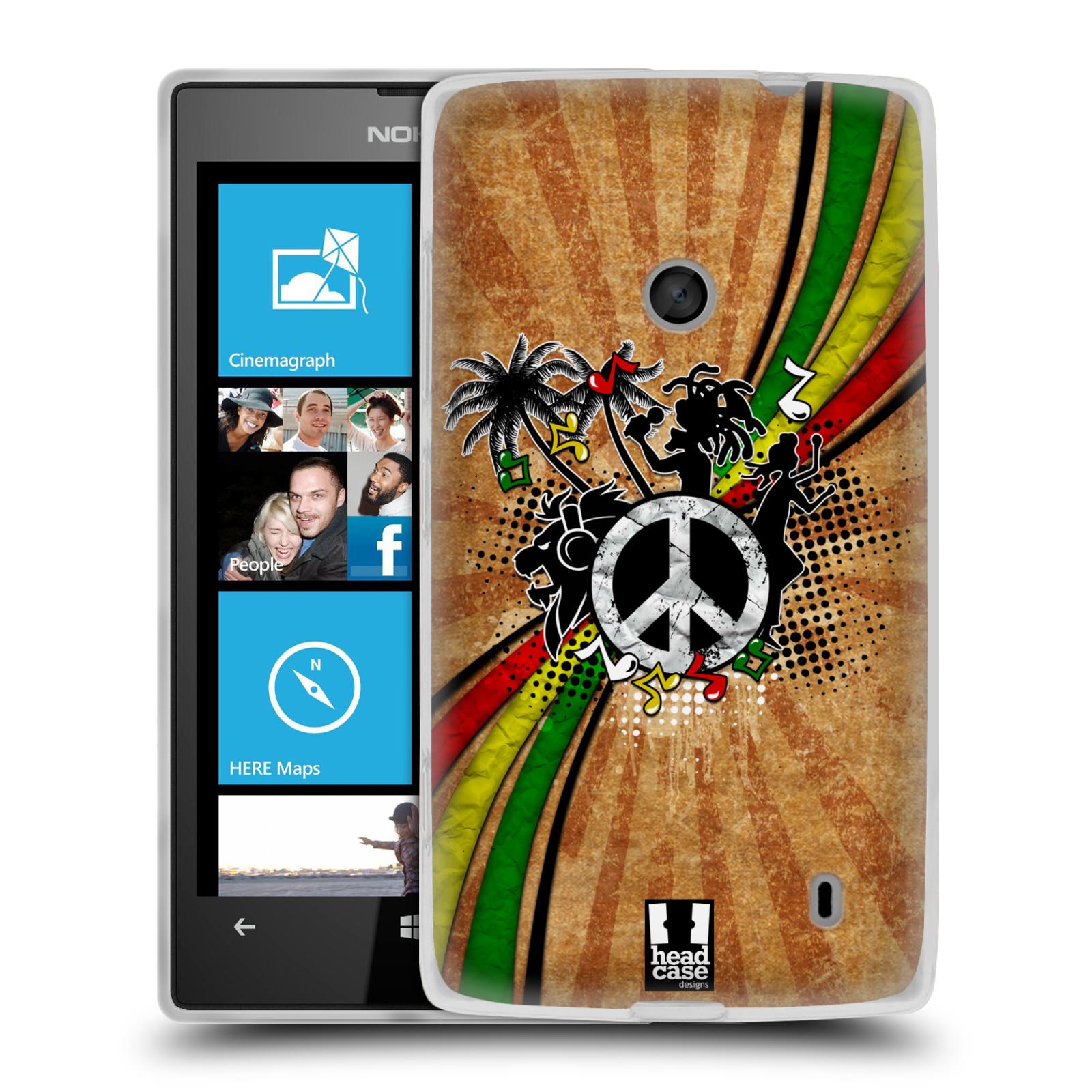 Silikonové pouzdro na mobil Nokia Lumia 520 HEAD CASE REGGAE (Silikonový Kryt či obal na mobilní telefon Nokia Lumia 520)