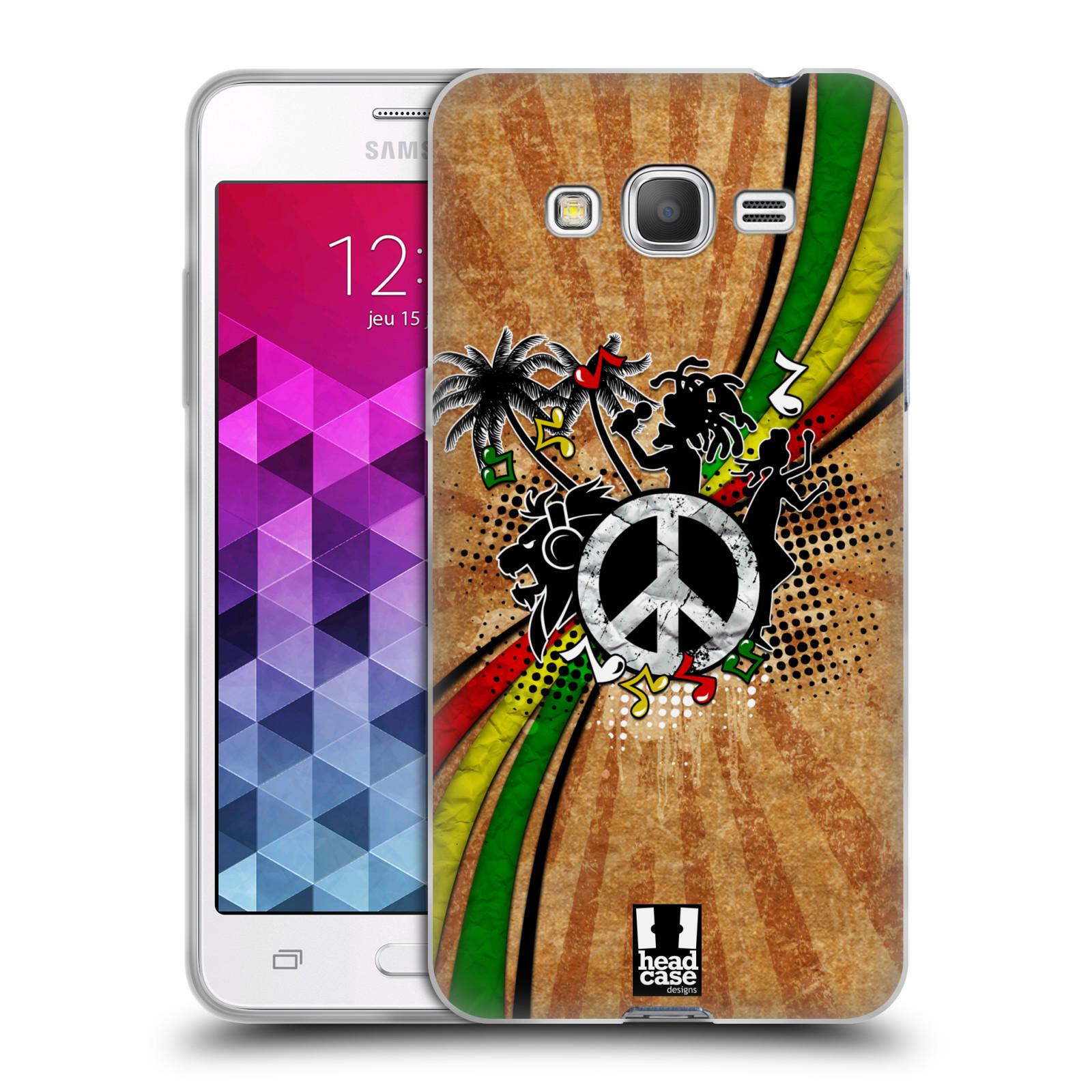 Silikonové pouzdro na mobil Samsung Galaxy Grand Prime HEAD CASE REGGAE