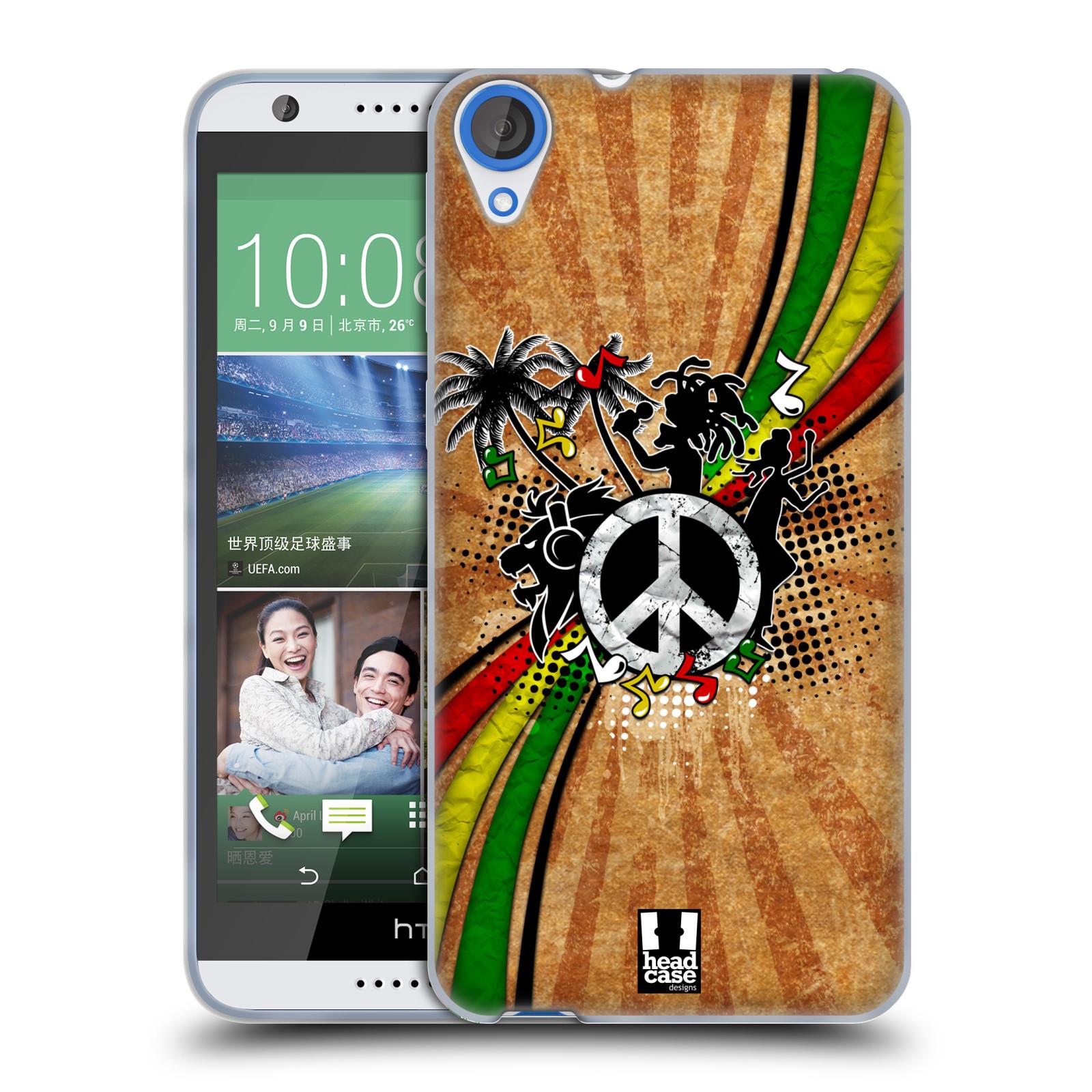 Silikonové pouzdro na mobil HTC Desire 820 HEAD CASE REGGAE (Silikonový kryt či obal na mobilní telefon HTC Desire 820)