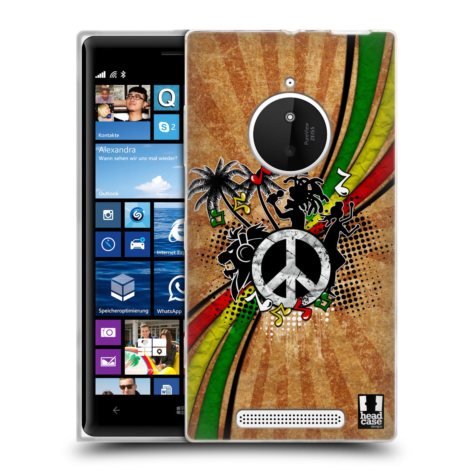 Silikonové pouzdro na mobil Nokia Lumia 830 HEAD CASE REGGAE (Silikonový kryt či obal na mobilní telefon Nokia Lumia 830)