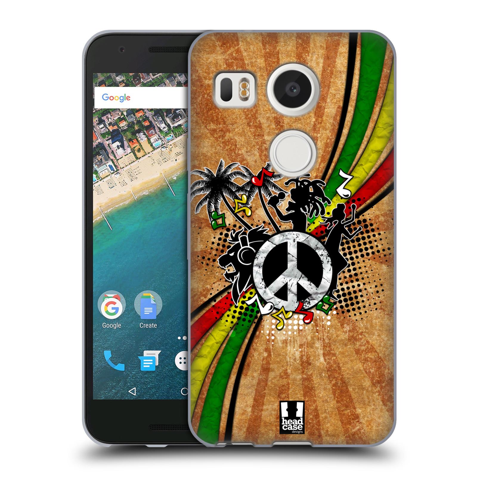 Silikonové pouzdro na mobil LG Nexus 5X - Head Case - REGGAE (Silikonový kryt či obal na mobilní telefon LG Nexus 5X)
