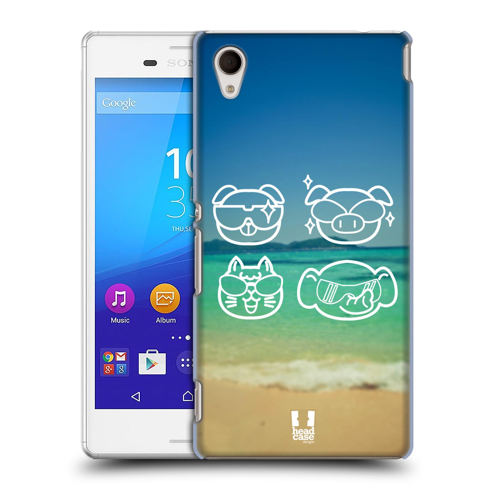 Plastové pouzdro na mobil Sony Xperia M4 Aqua E2303 HEAD CASE EMOJI COOL